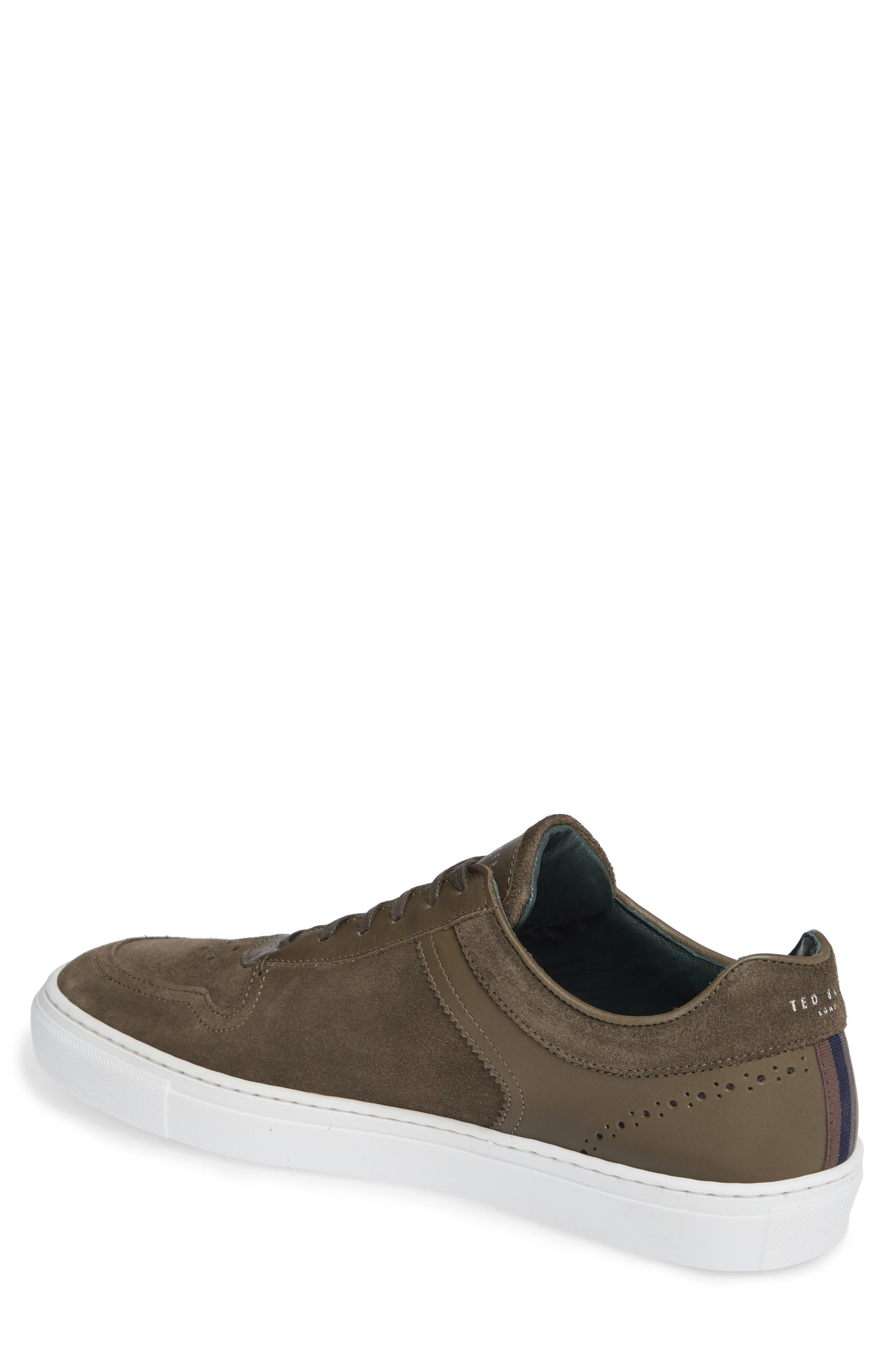 Burall Sneaker,                             Alternate thumbnail 2, color,                             DARK GREEN SUEDE