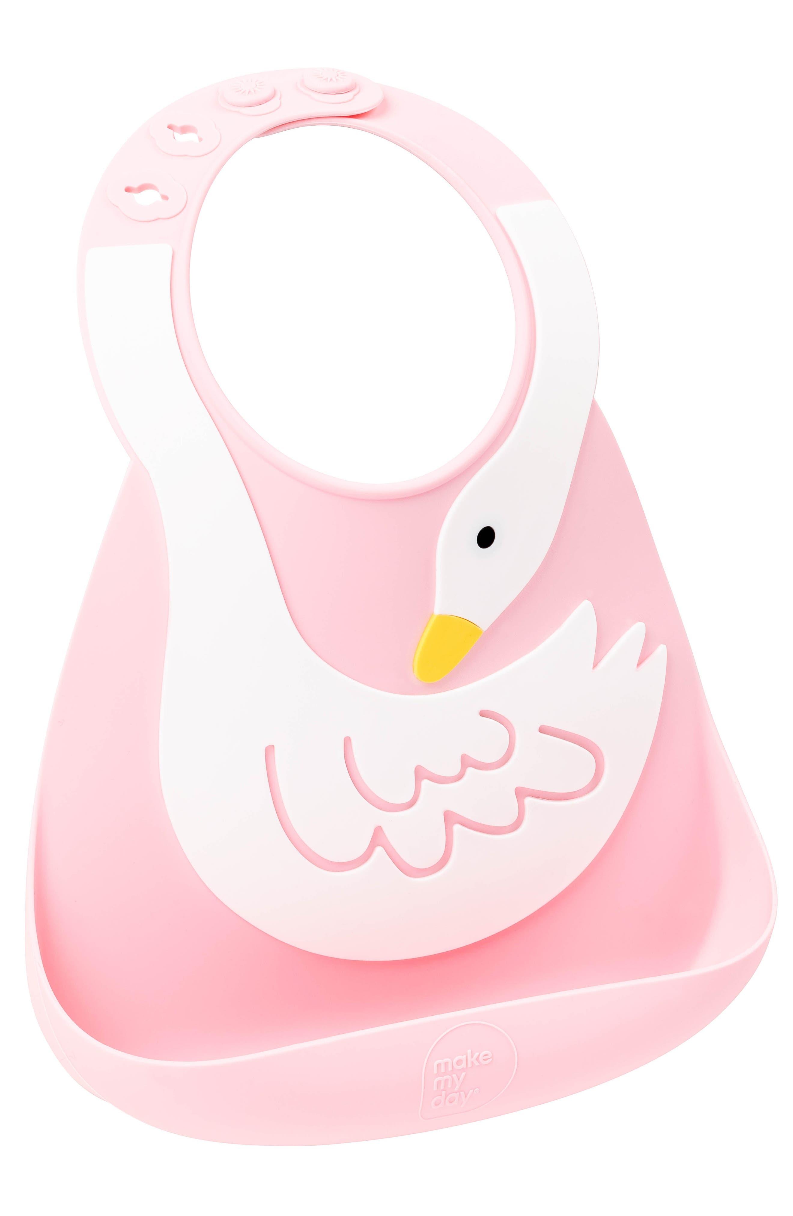Infant Girls Make My Day Swan Bucket Bib