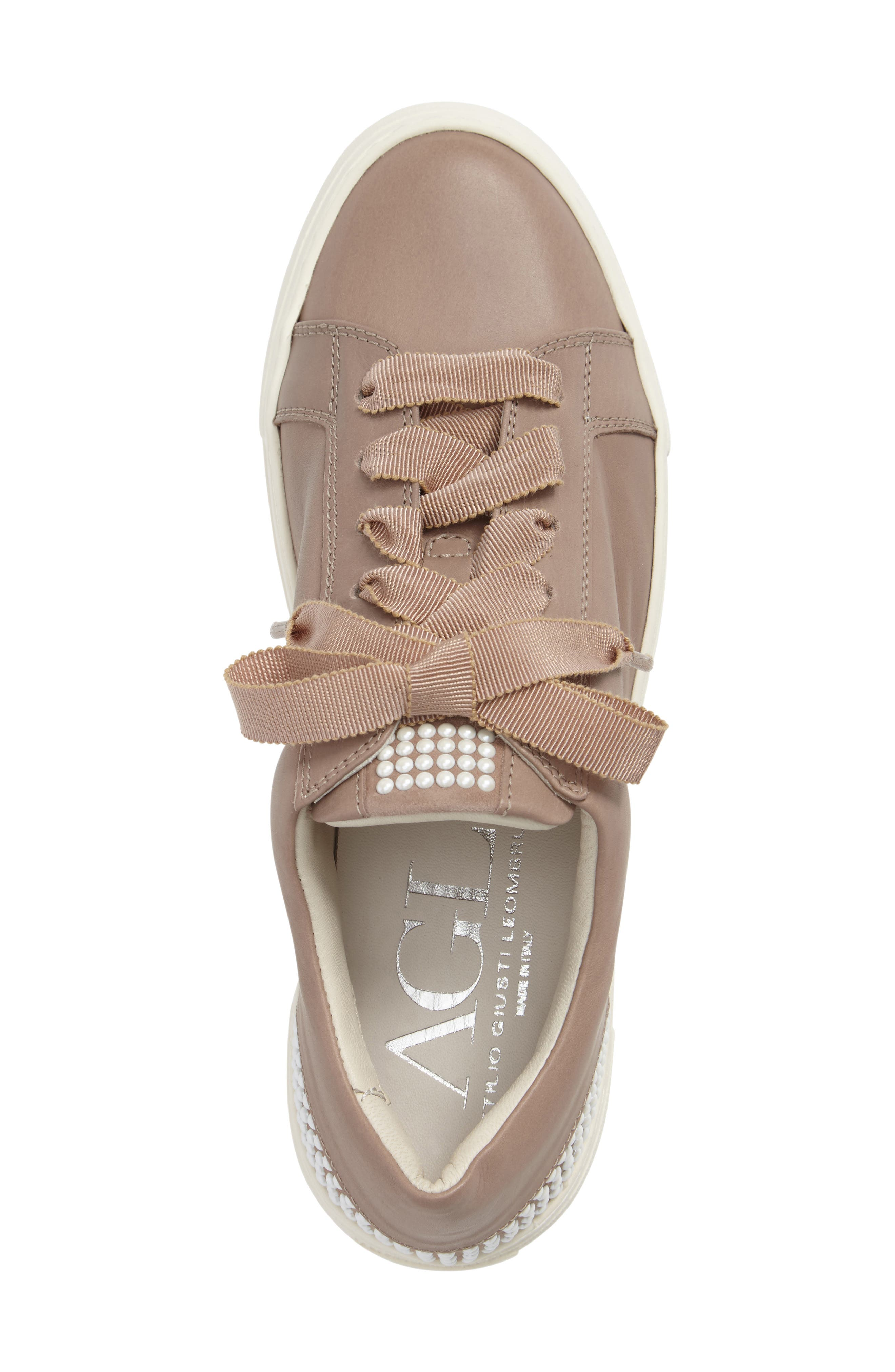 Pearl Sneaker,                             Alternate thumbnail 3, color,                             PALE LEATHER