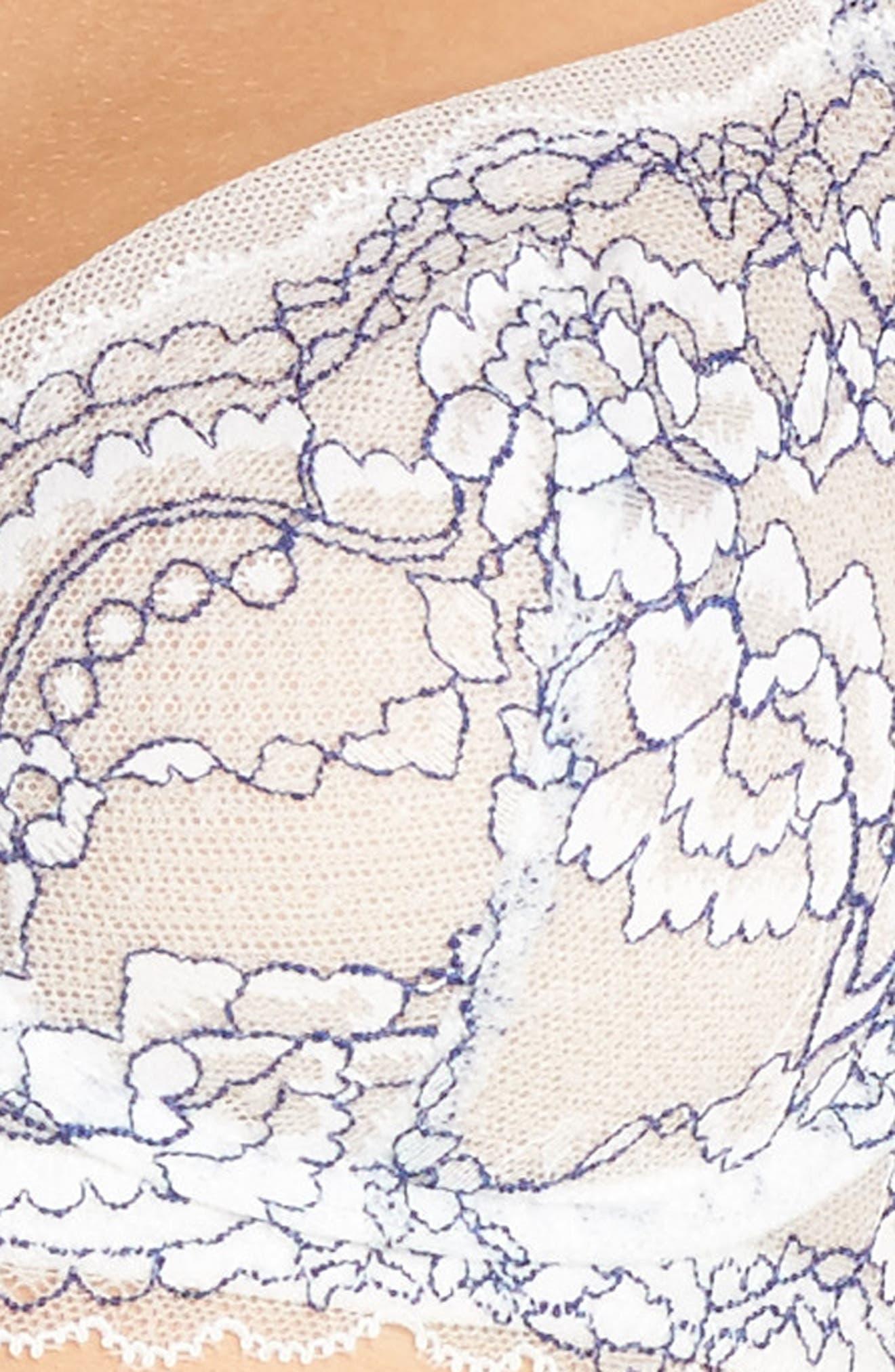 'Minx' Unlined Lace Demi Underwire Bra,                             Alternate thumbnail 56, color,