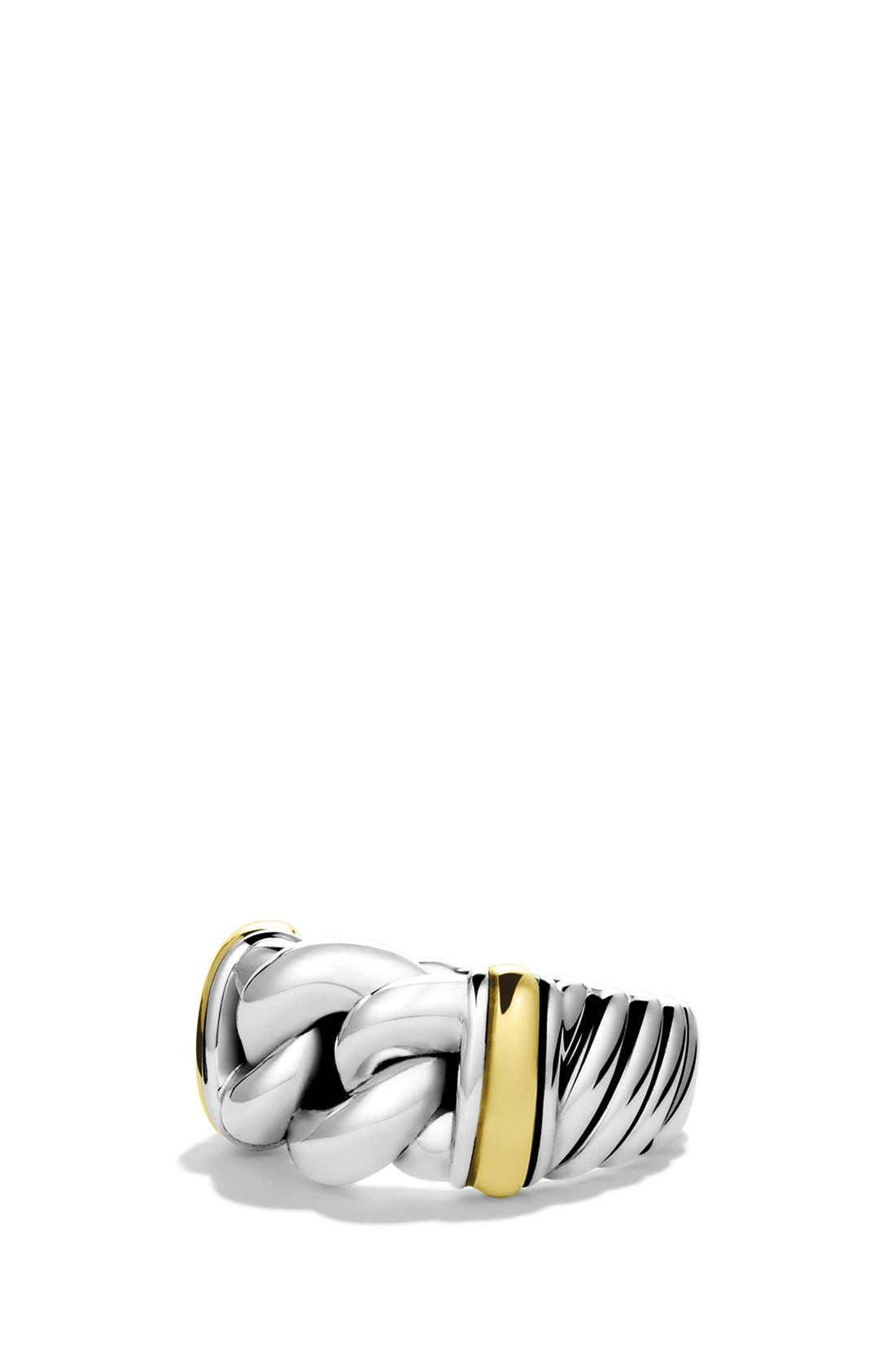 DAVID YURMAN,                             'Metro' Ring with Gold,                             Main thumbnail 1, color,                             040
