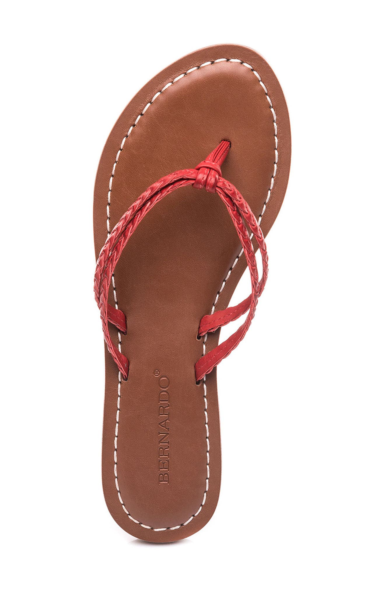 Bernardo Greta Braided Strap Sandal,                             Alternate thumbnail 32, color,