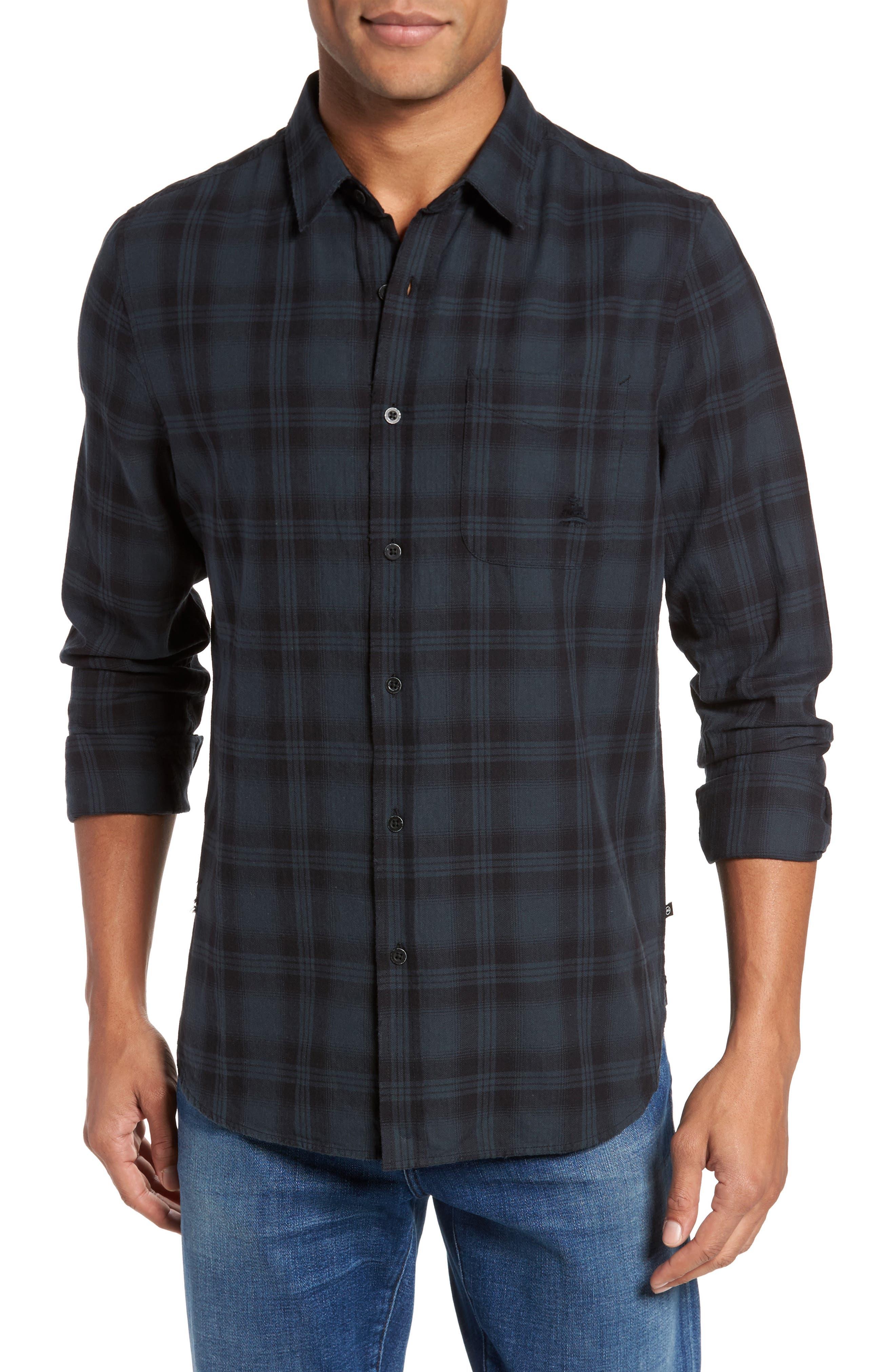 Colton Slim Fit Plaid Sport Shirt,                             Main thumbnail 1, color,
