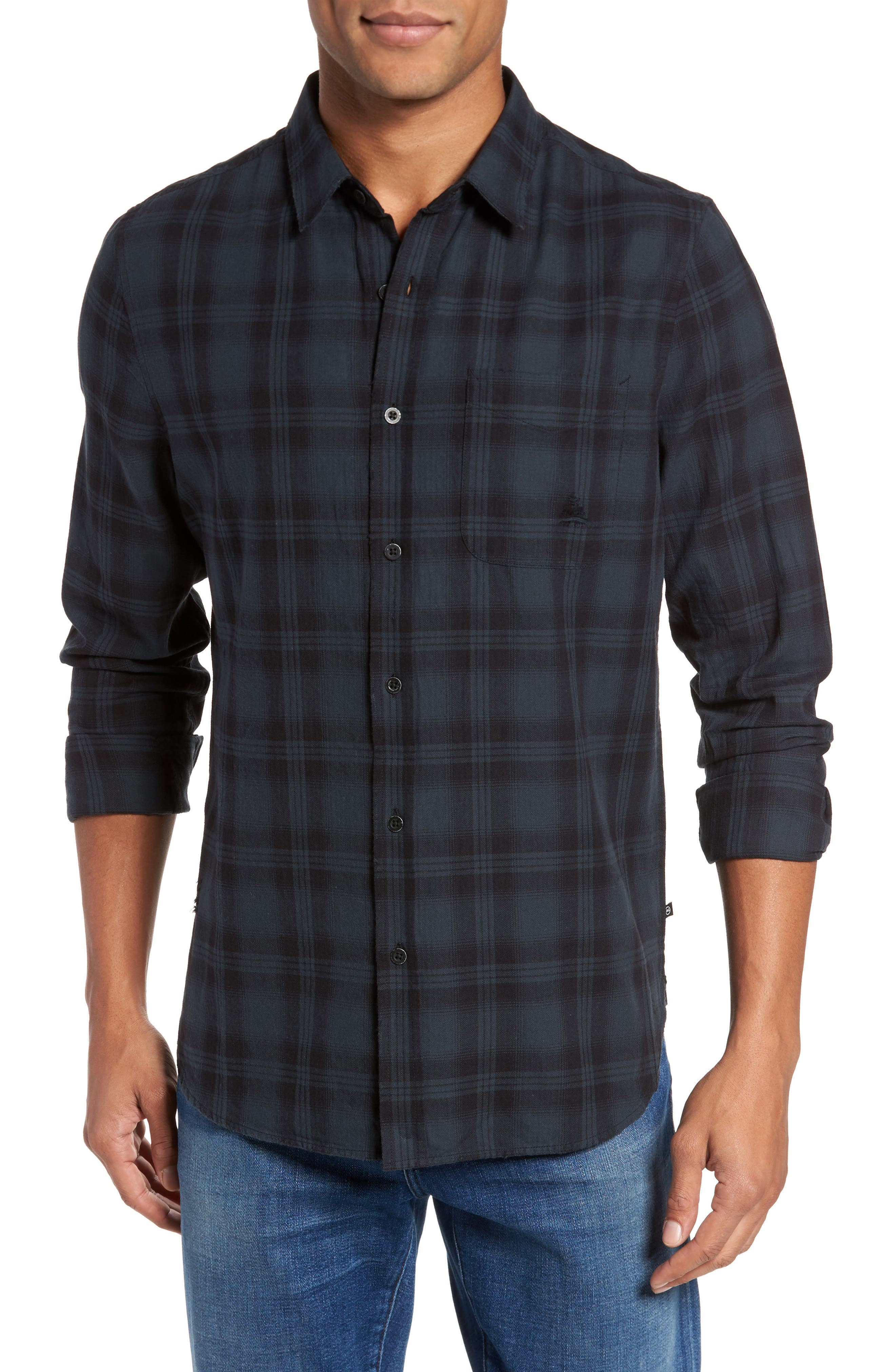 Colton Slim Fit Plaid Sport Shirt,                         Main,                         color, 487