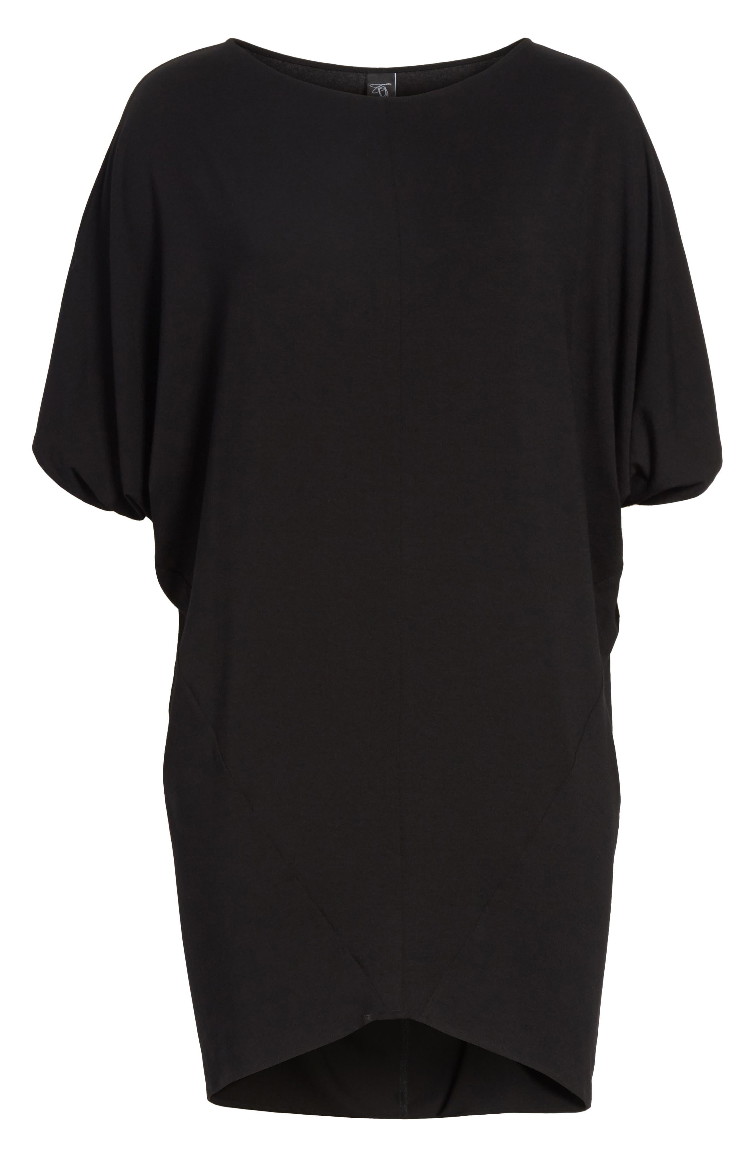 Jersey Dress,                             Alternate thumbnail 6, color,                             001