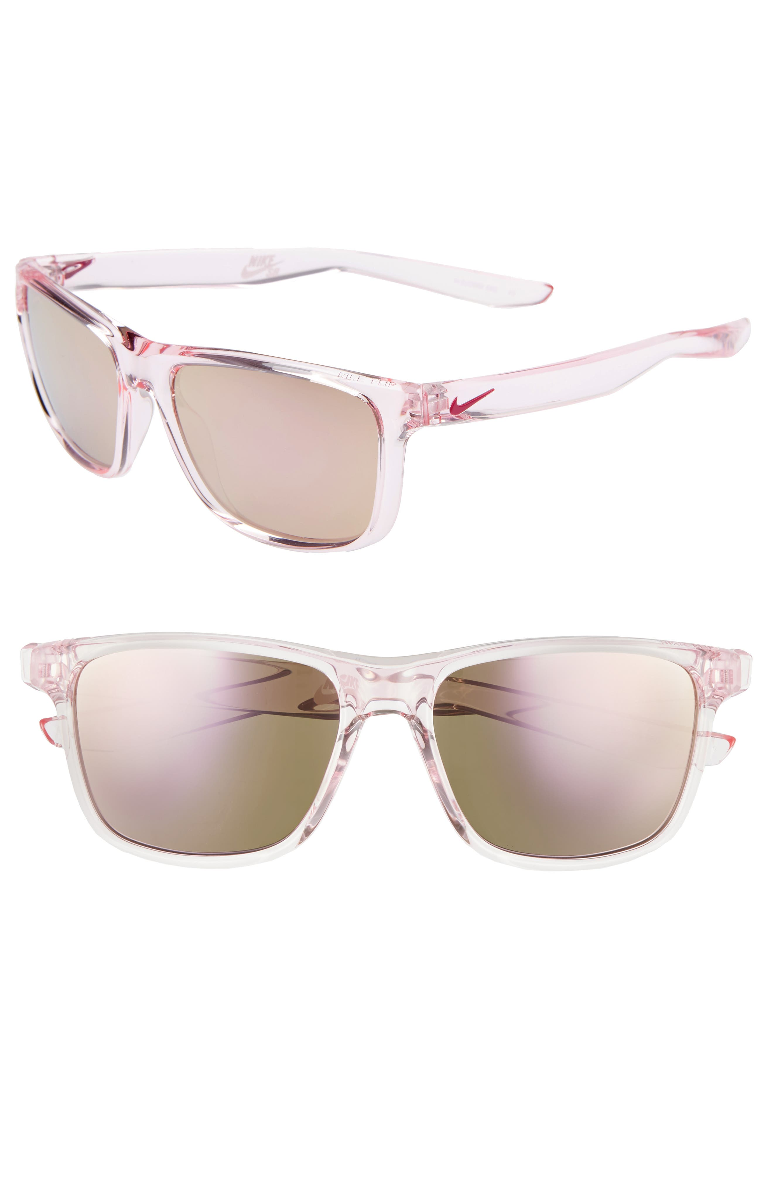 Nike Flip 5m Mirrored Sunglasses - Pink Foam/ Pink