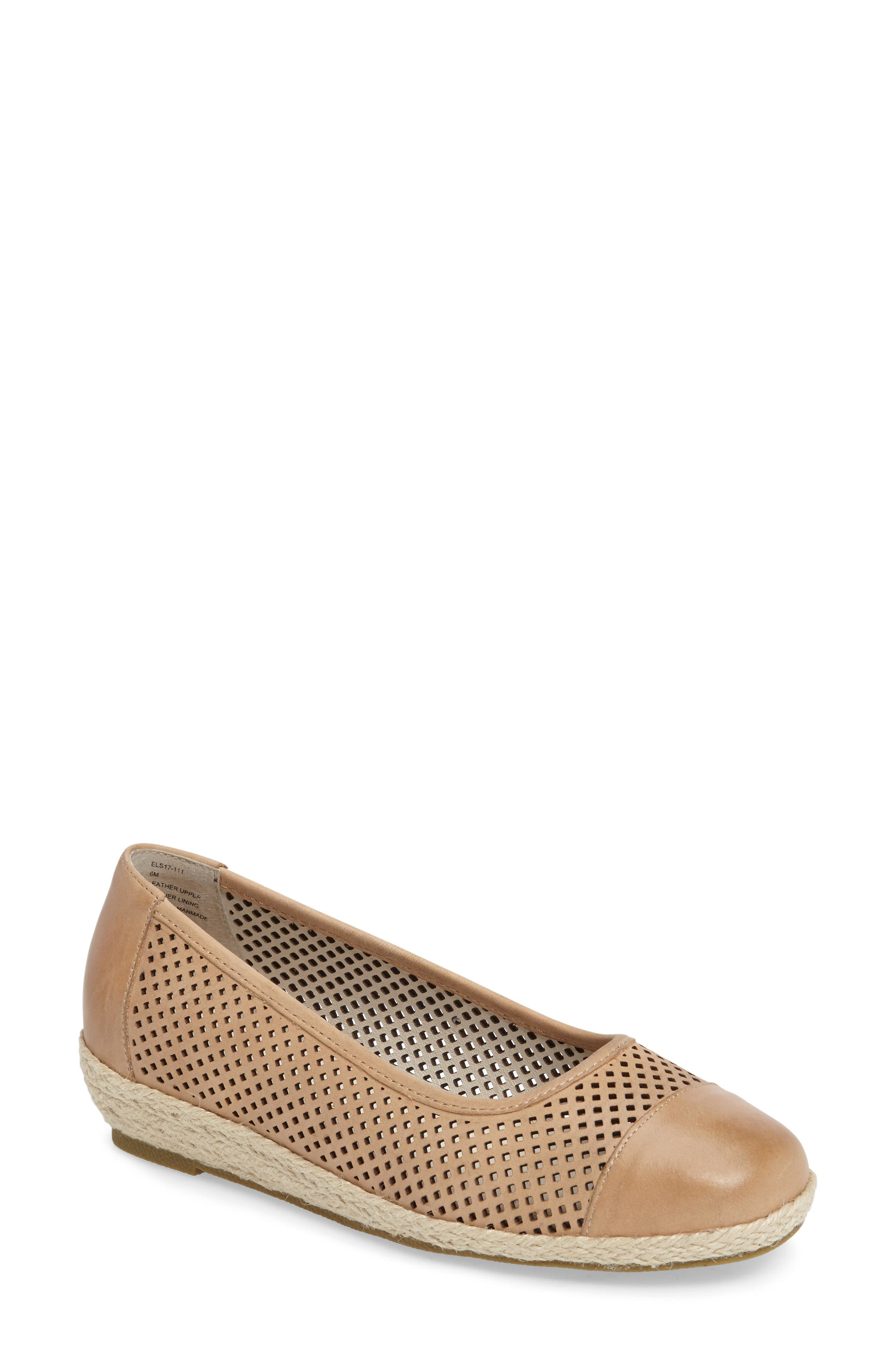 Nadine Perforated Espadrille Wedge,                             Main thumbnail 3, color,