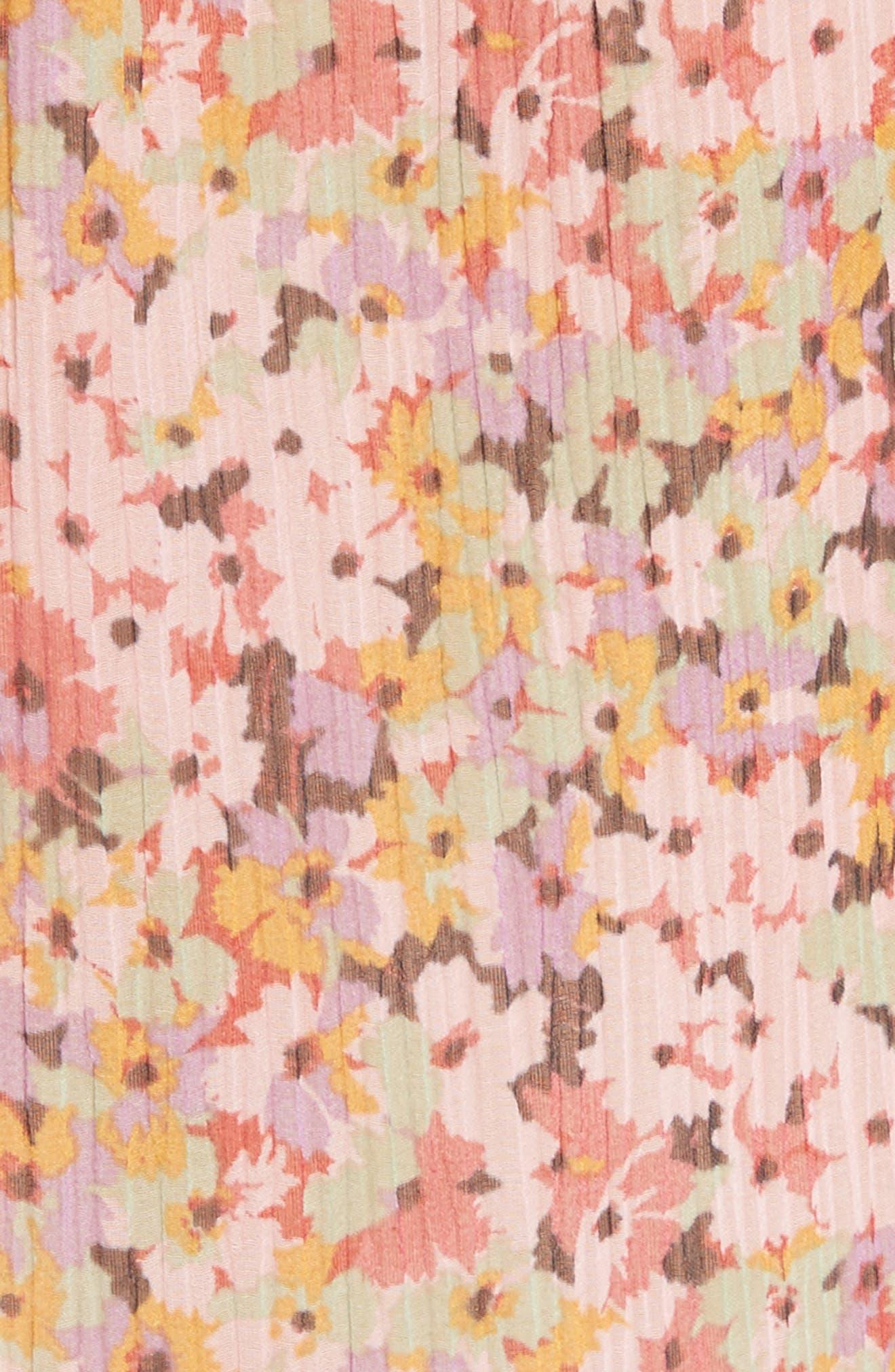 Margo Ruffled Floral Drop Waist Dress,                             Alternate thumbnail 5, color,                             686
