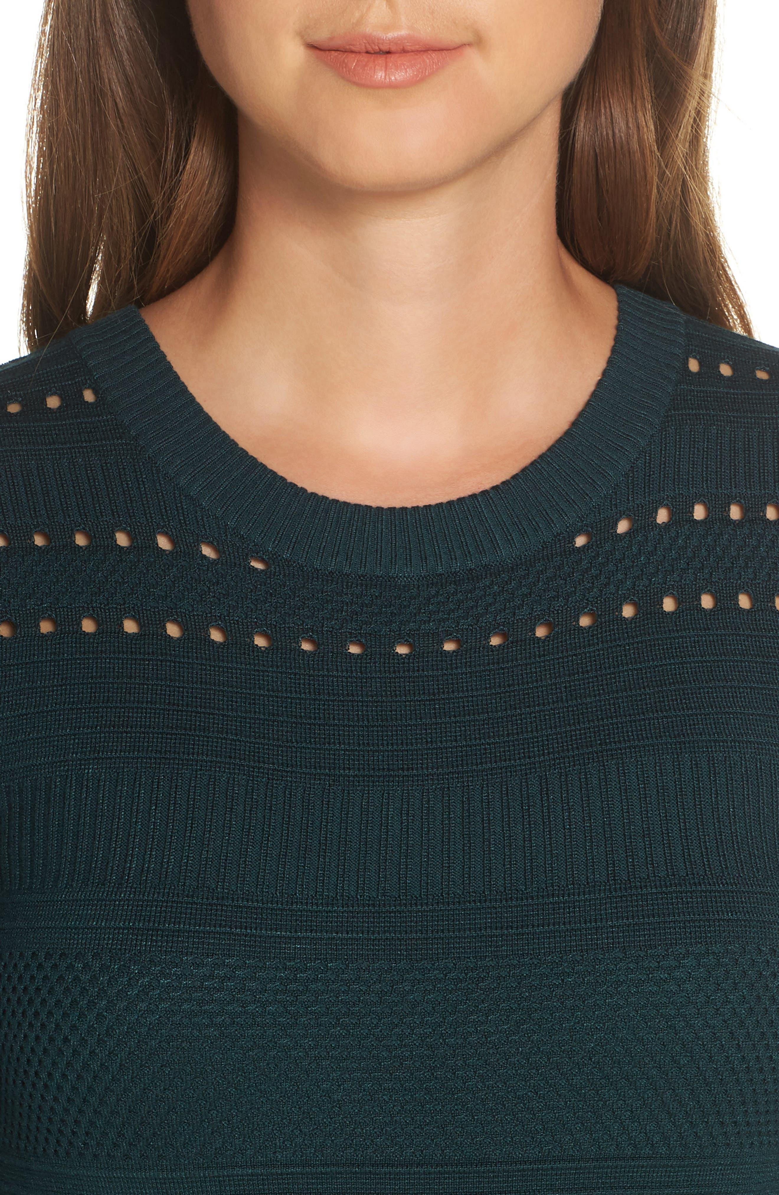 ELIZA J,                             Fit & Flare Sweater Dress,                             Alternate thumbnail 4, color,                             SPRUCE