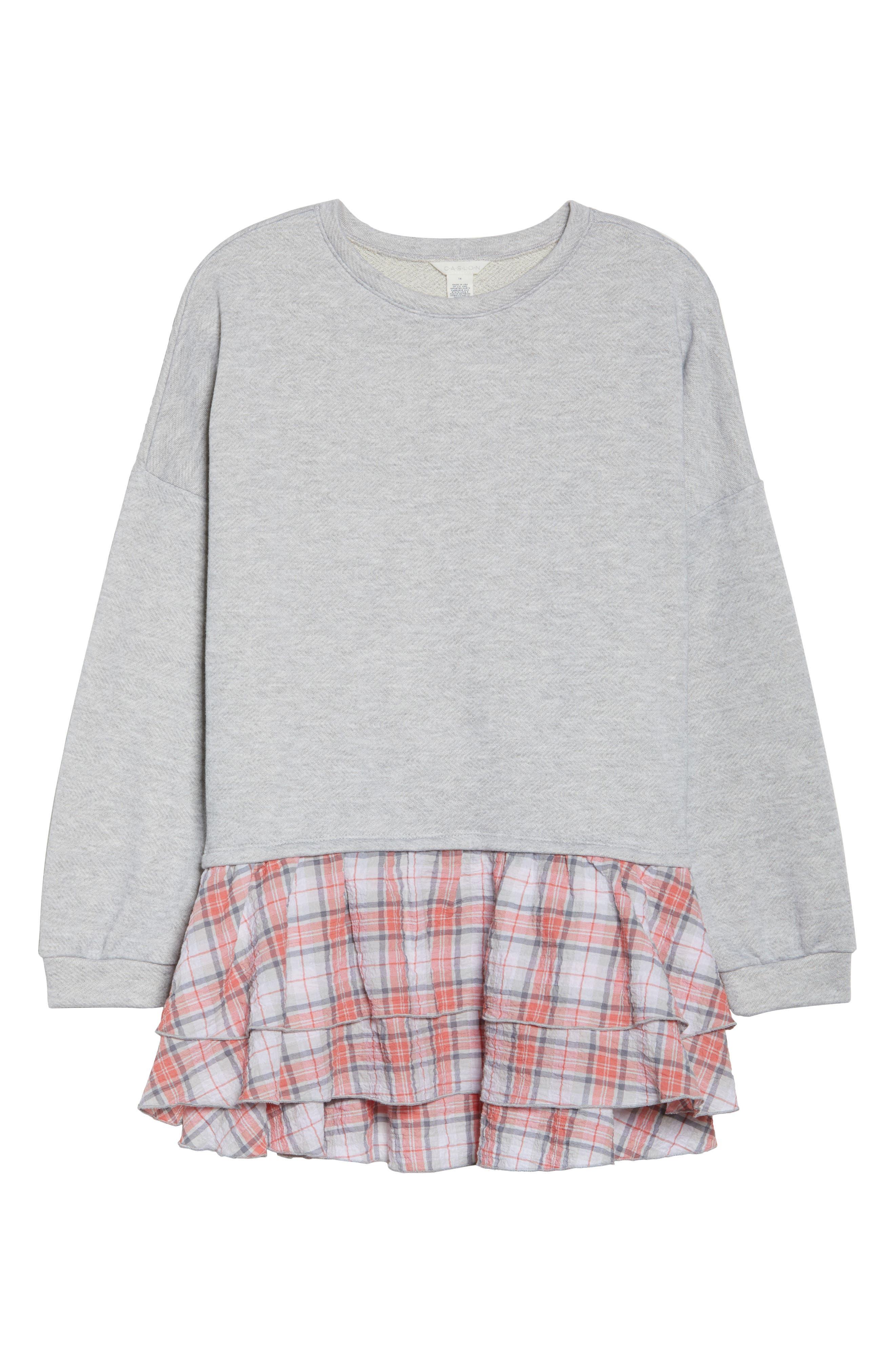 Layered Look Sweatshirt,                             Alternate thumbnail 6, color,                             030