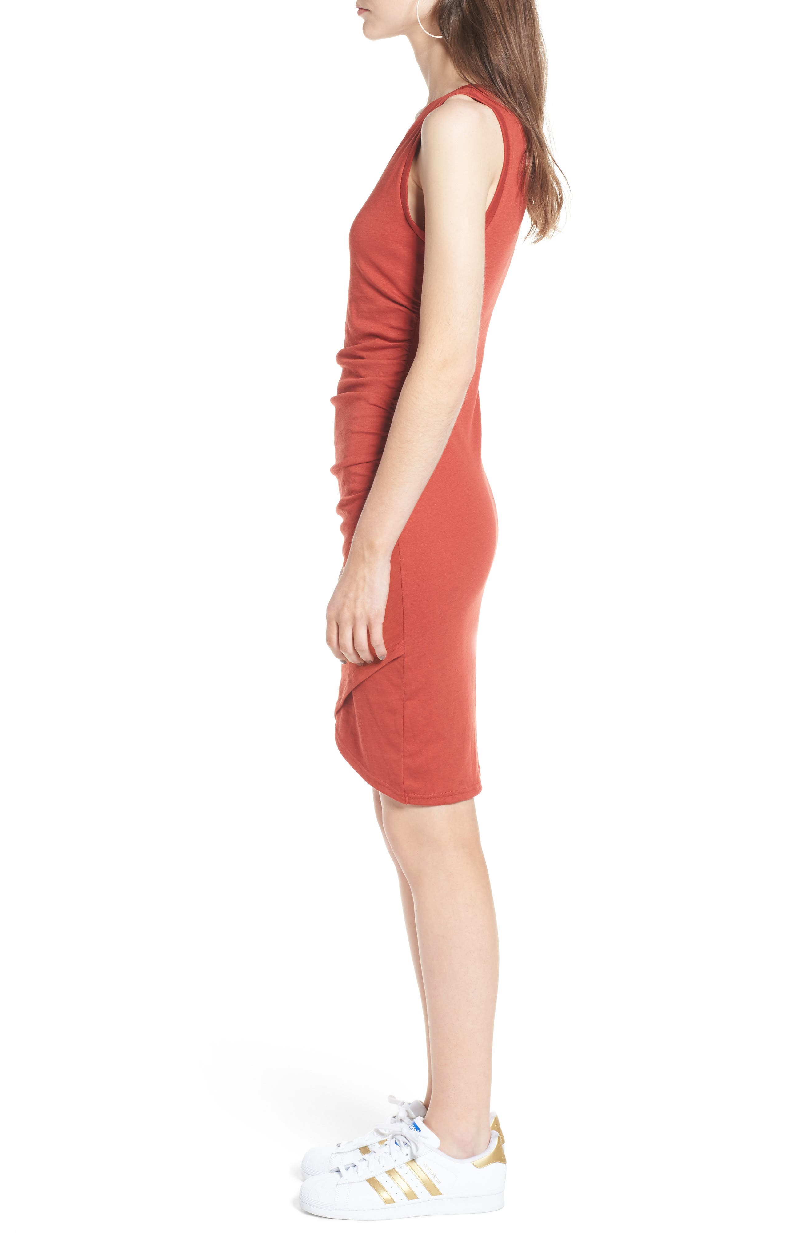 Ruched Body-Con Tank Dress,                             Alternate thumbnail 102, color,