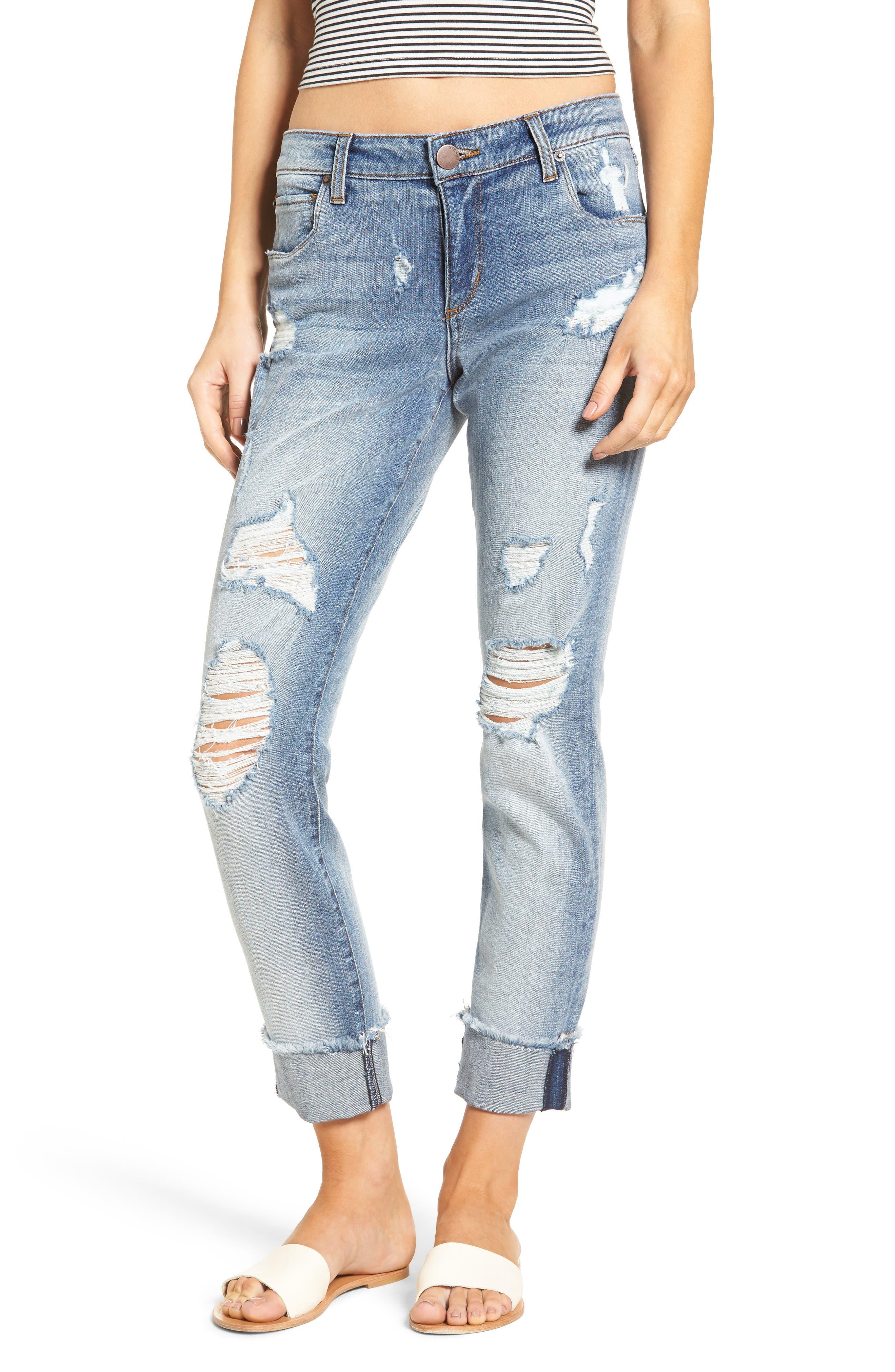 Fray Hem Taylor Tomboy Jeans,                         Main,                         color,