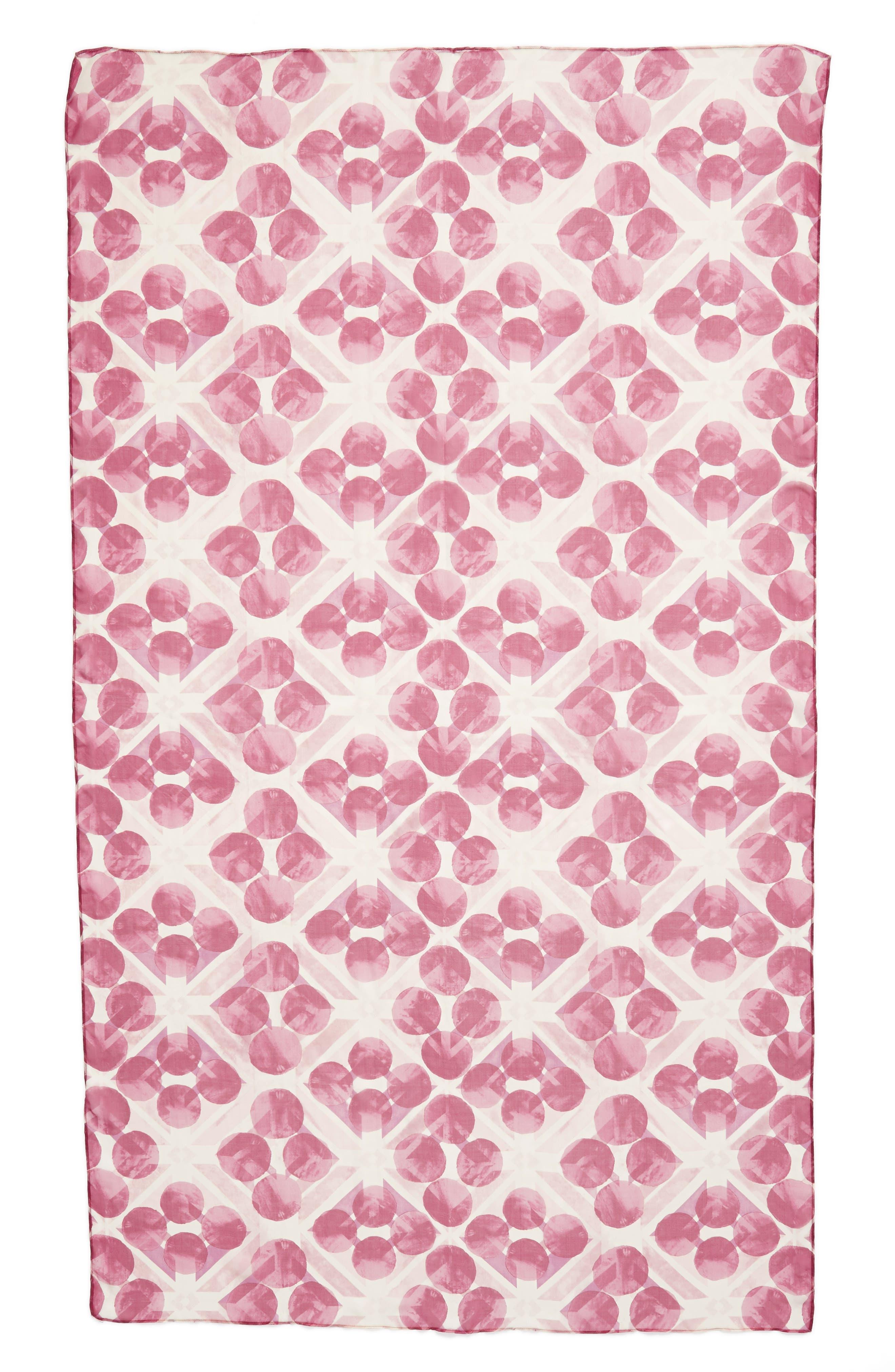 Silk Chiffon Oblong Scarf,                             Alternate thumbnail 52, color,