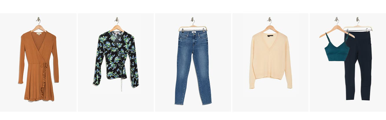 Women's clothing: dresses, tops, denim, sweaters and activewear.