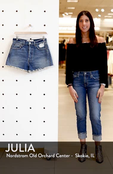 Dixie High Waist Cutoff Denim Shorts, sales video thumbnail