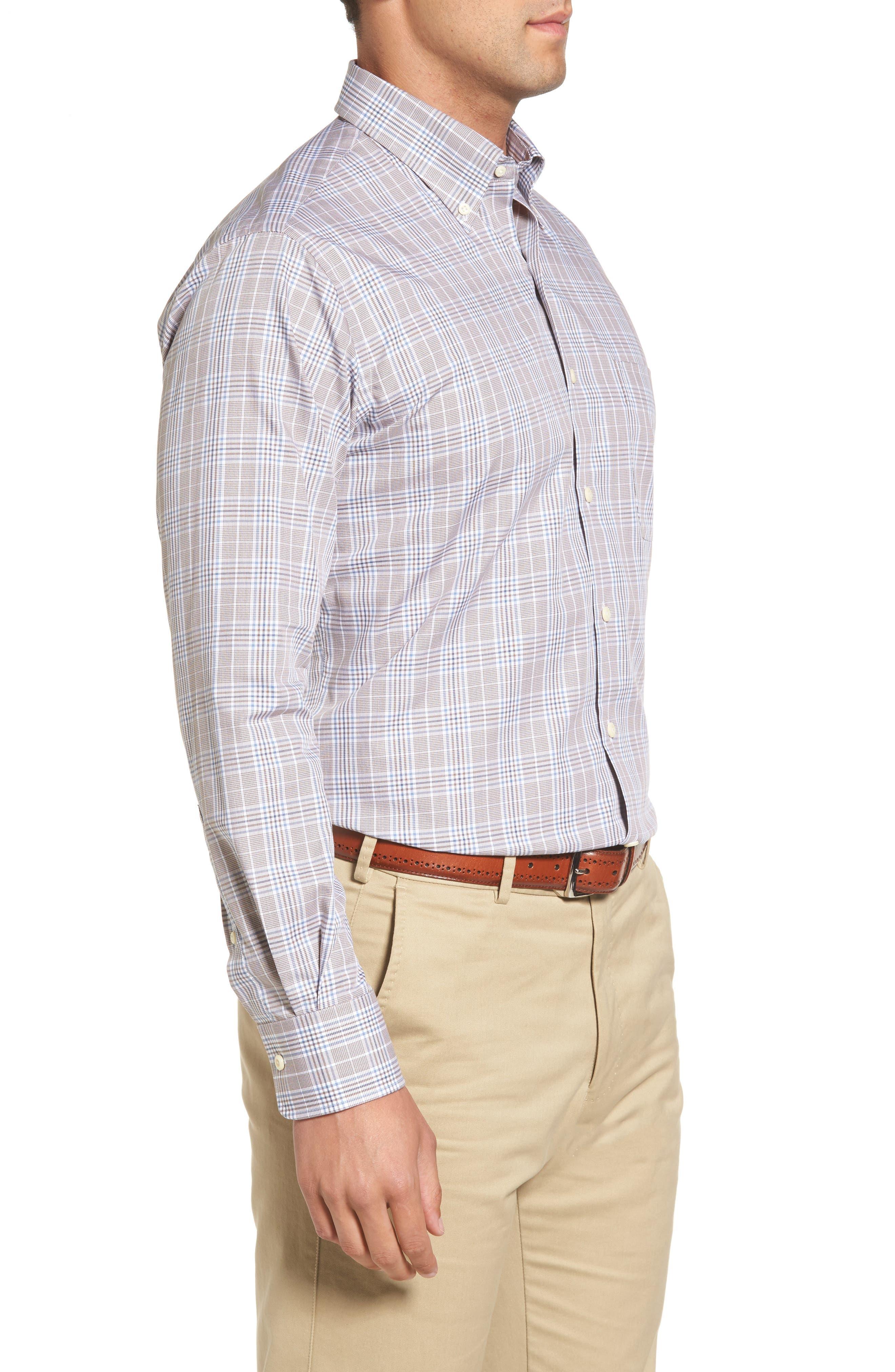 River Glen Plaid Regular Fit Sport Shirt,                             Alternate thumbnail 3, color,                             230