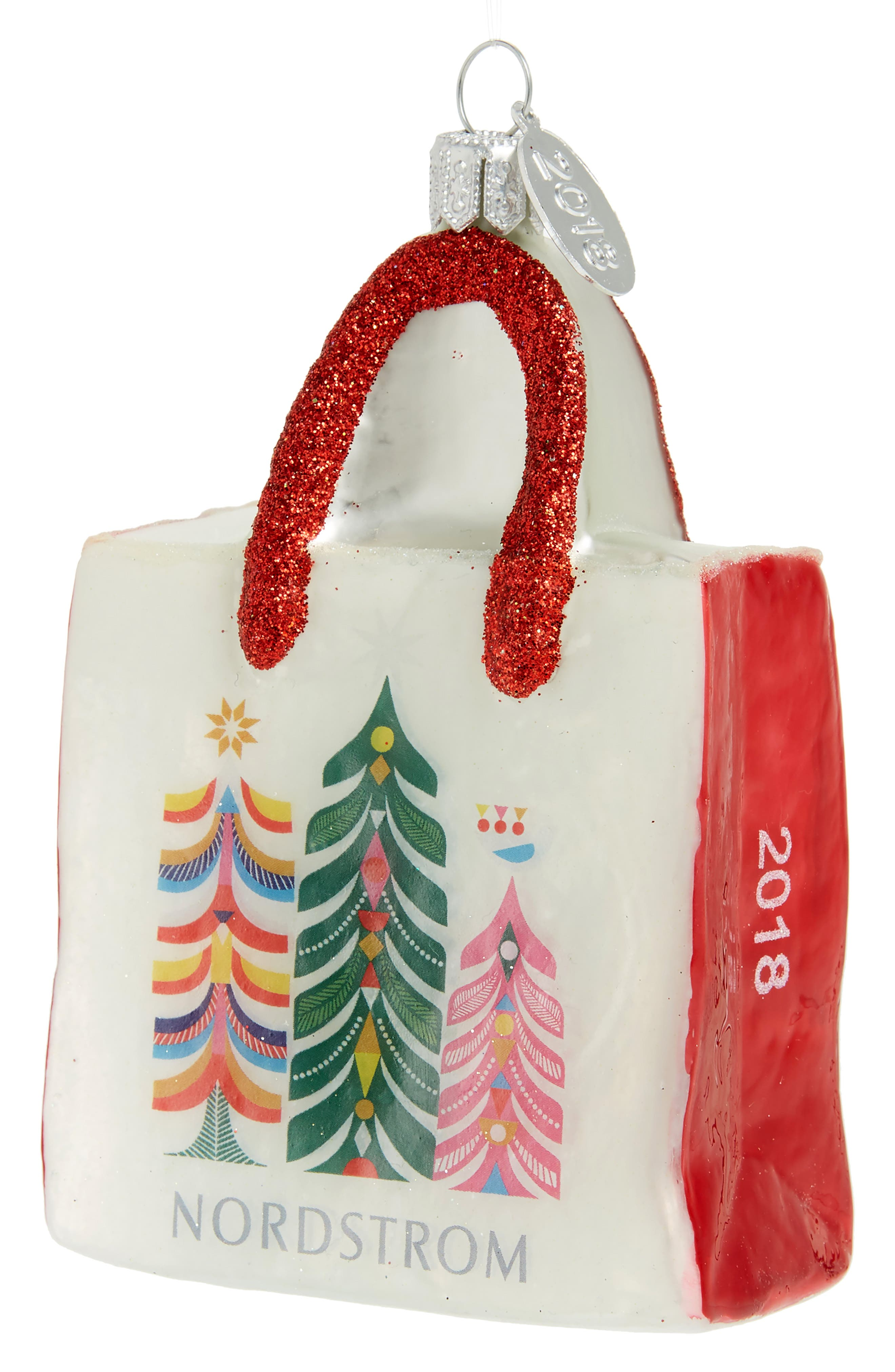 Nordstrom Shopping Bag 2018 Ornament,                         Main,                         color, 100
