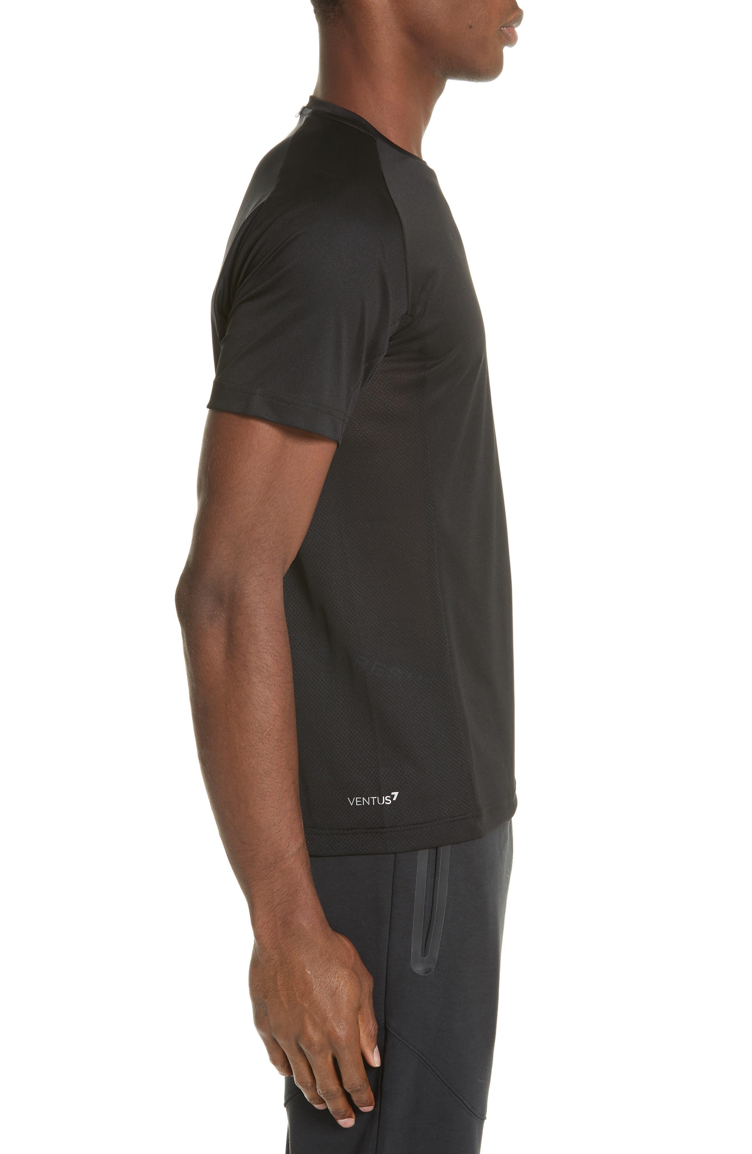 Ventus Crewneck T-Shirt,                             Alternate thumbnail 4, color,                             BLACK