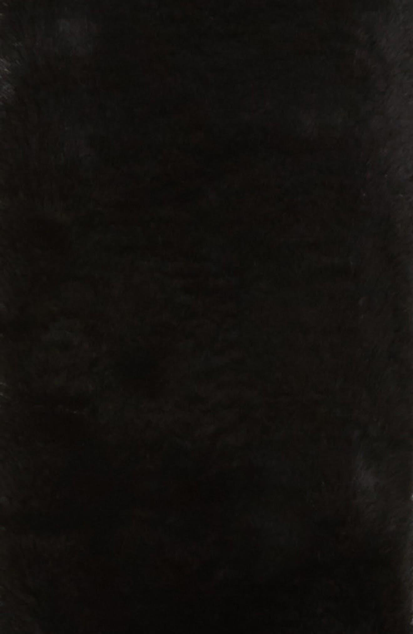 Faux Fur Pull Through Scarf,                             Alternate thumbnail 4, color,                             001