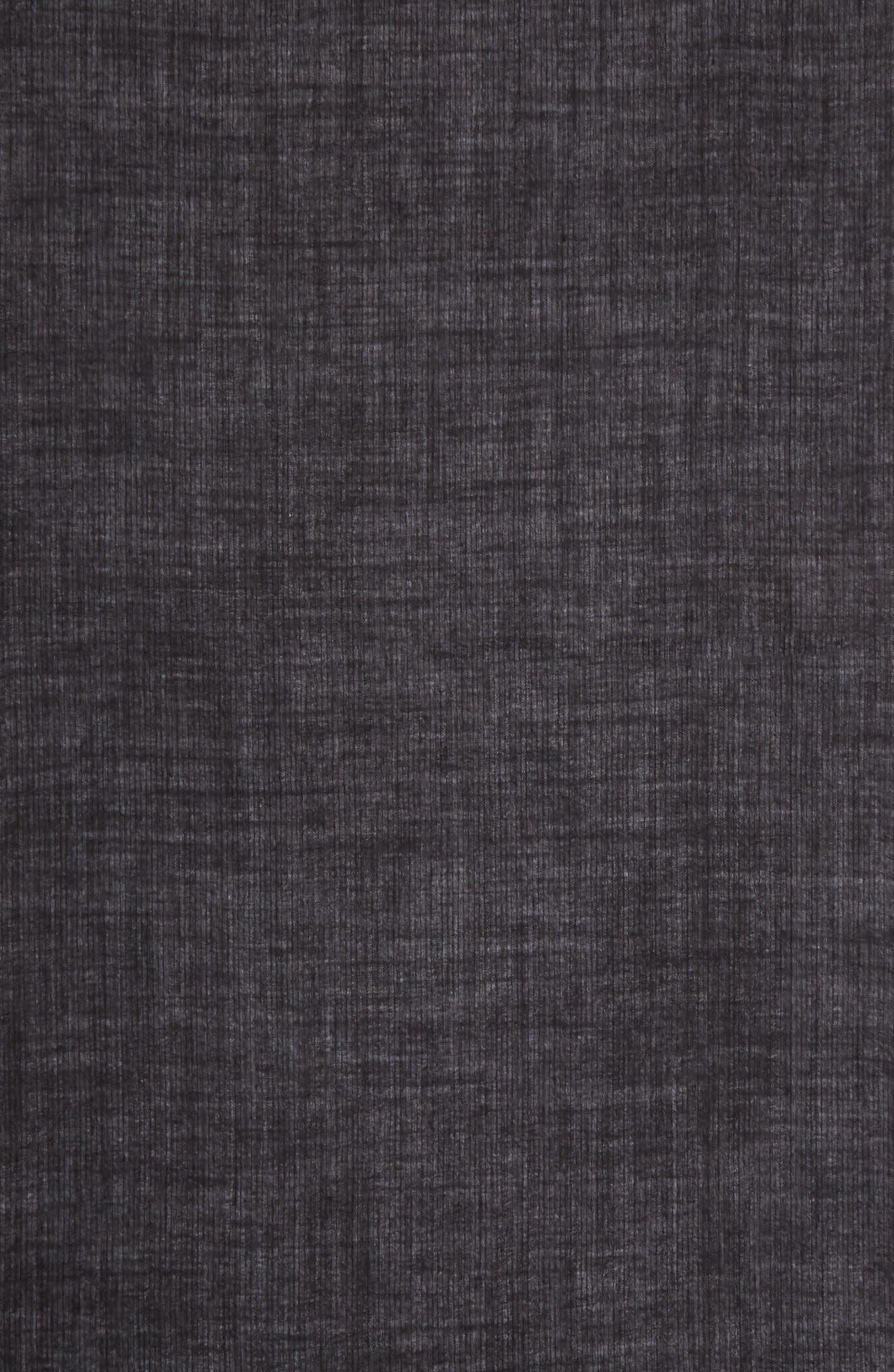 Stripe Herringbone Wool Scarf,                             Alternate thumbnail 3, color,                             001