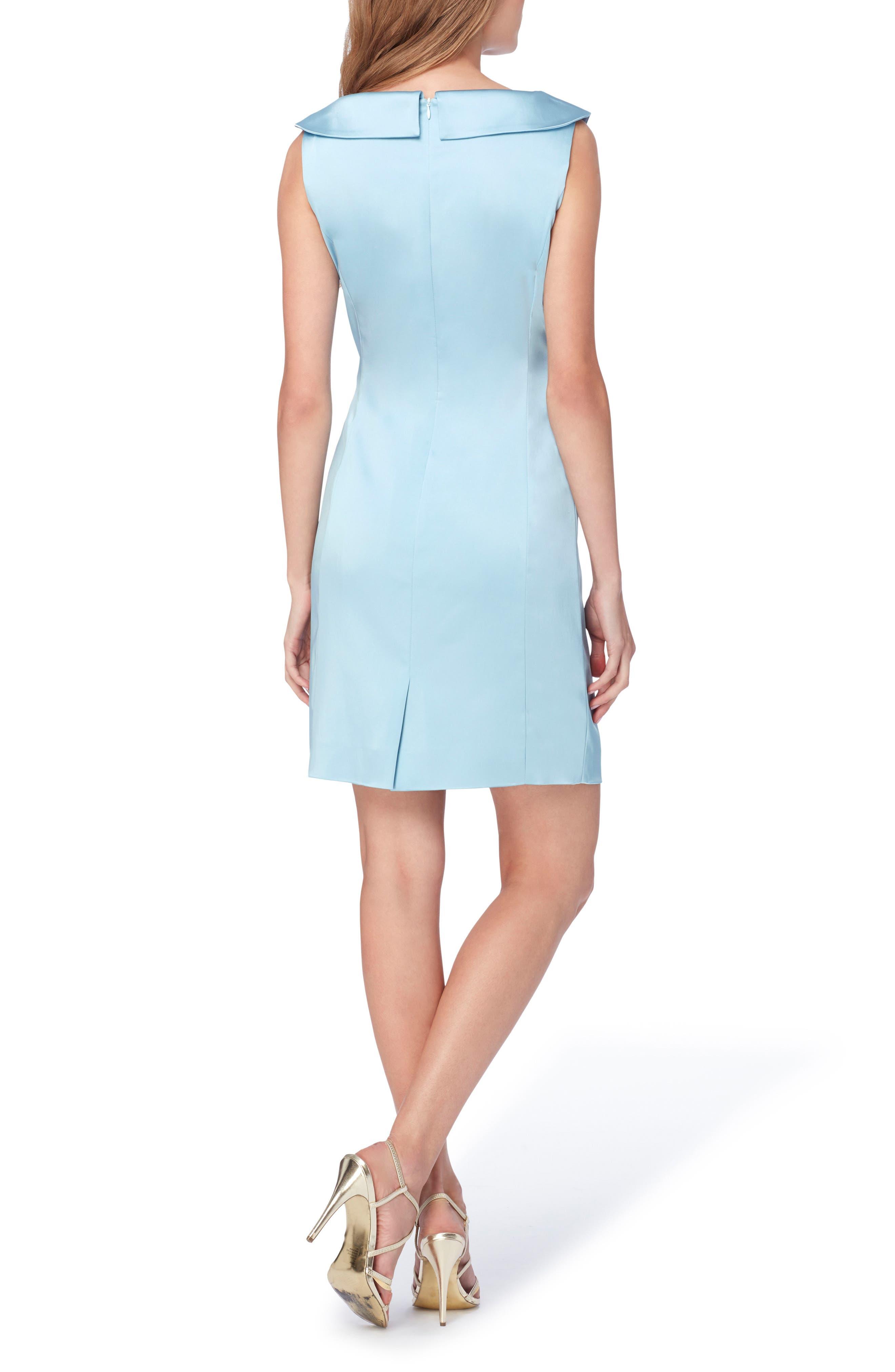 Satin Sheath Dress,                             Alternate thumbnail 2, color,                             404