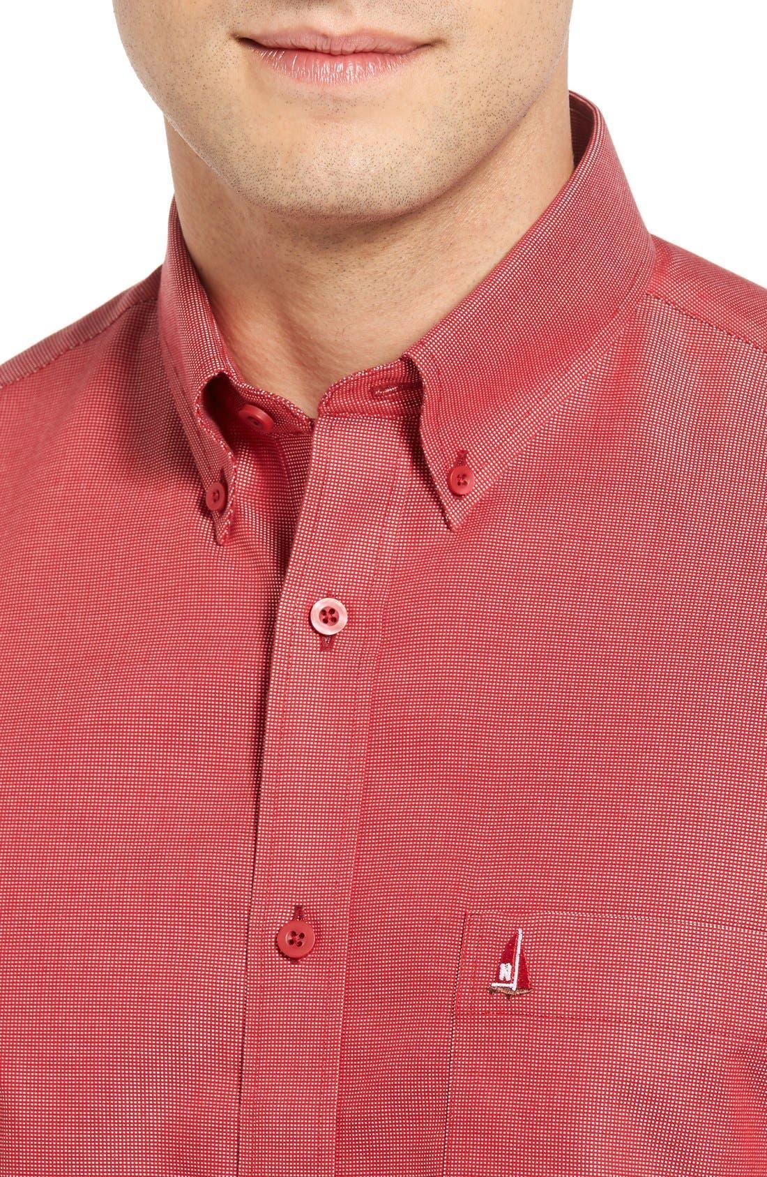 'Classic' Smartcare<sup>™</sup> Regular Fit Short Sleeve Cotton Sport Shirt,                             Alternate thumbnail 78, color,