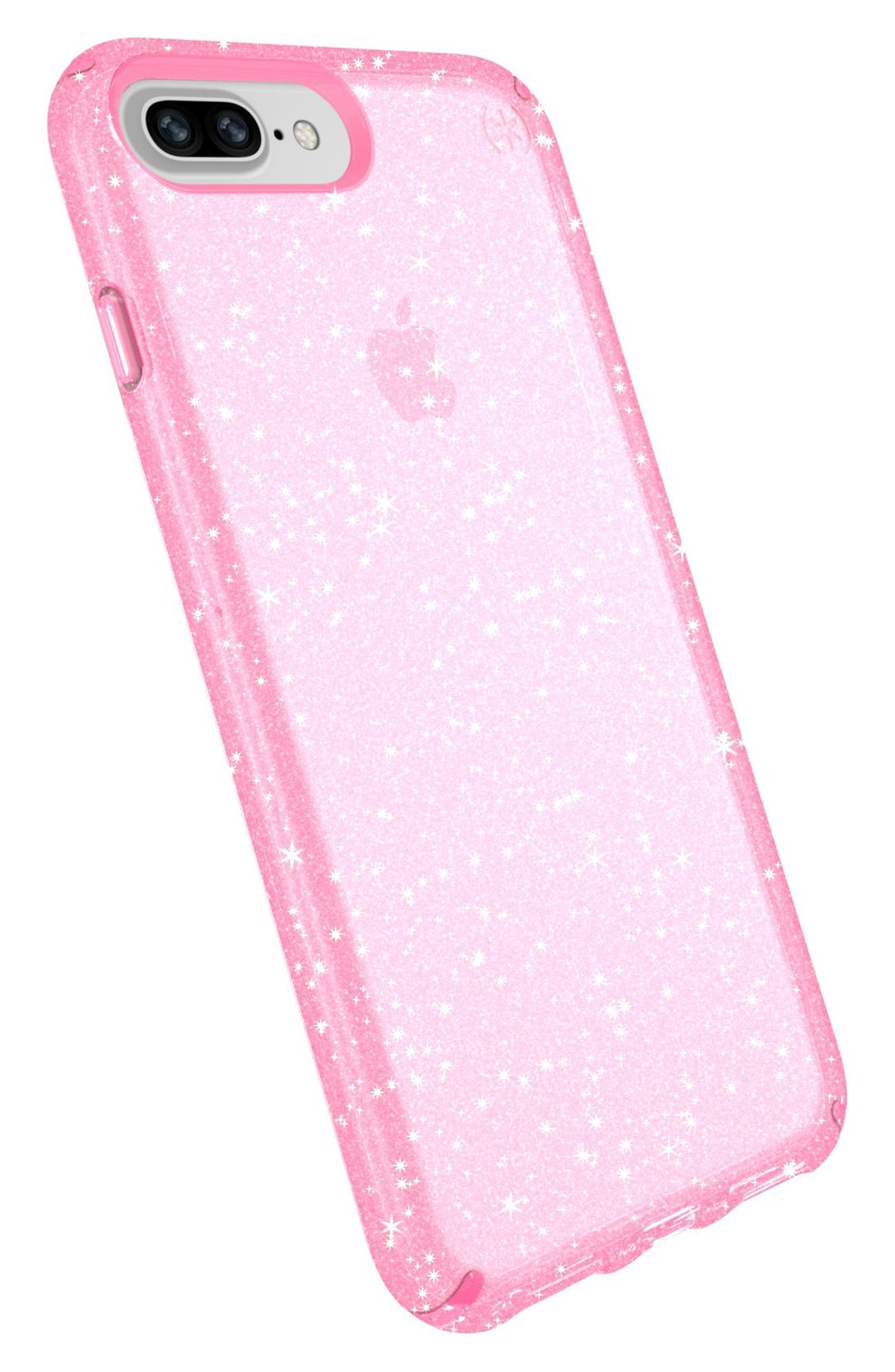 iPhone 6/6s/7/8 Plus Case,                             Alternate thumbnail 8, color,                             BELLA PINK GOLD GLITTER/ PINK