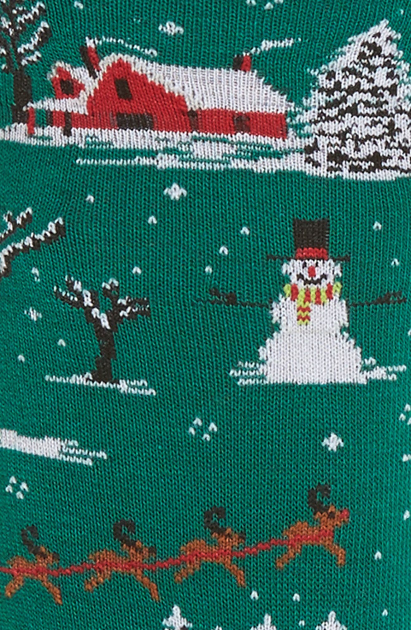 Christmas Scene Crew Socks,                             Alternate thumbnail 2, color,                             314