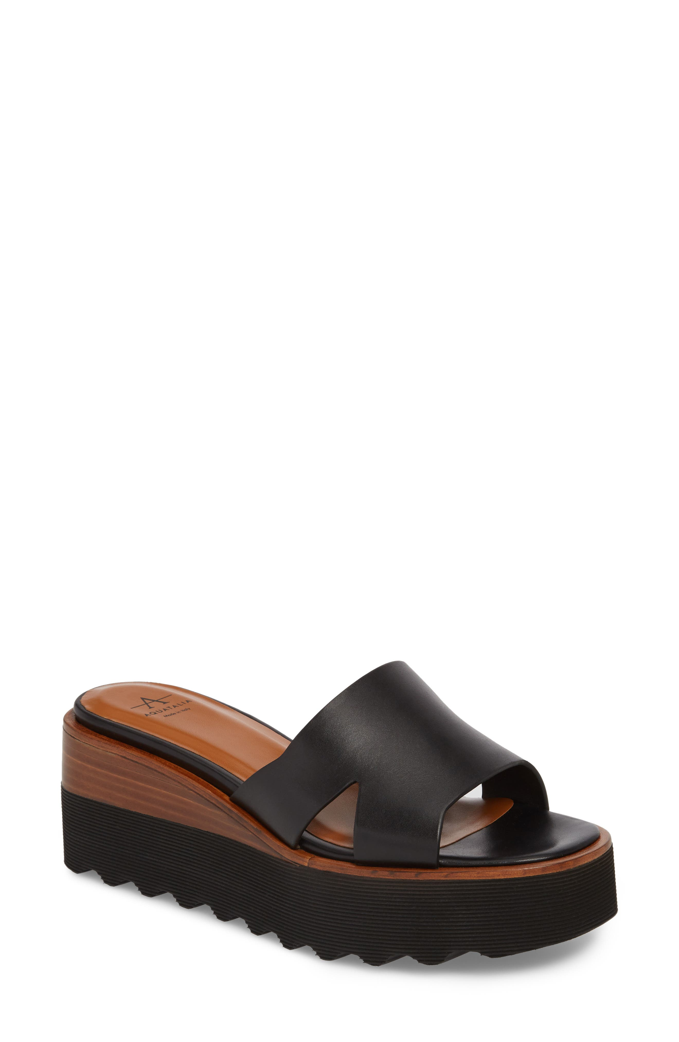 Tayla Platform Wedge Sandal,                             Main thumbnail 1, color,                             001