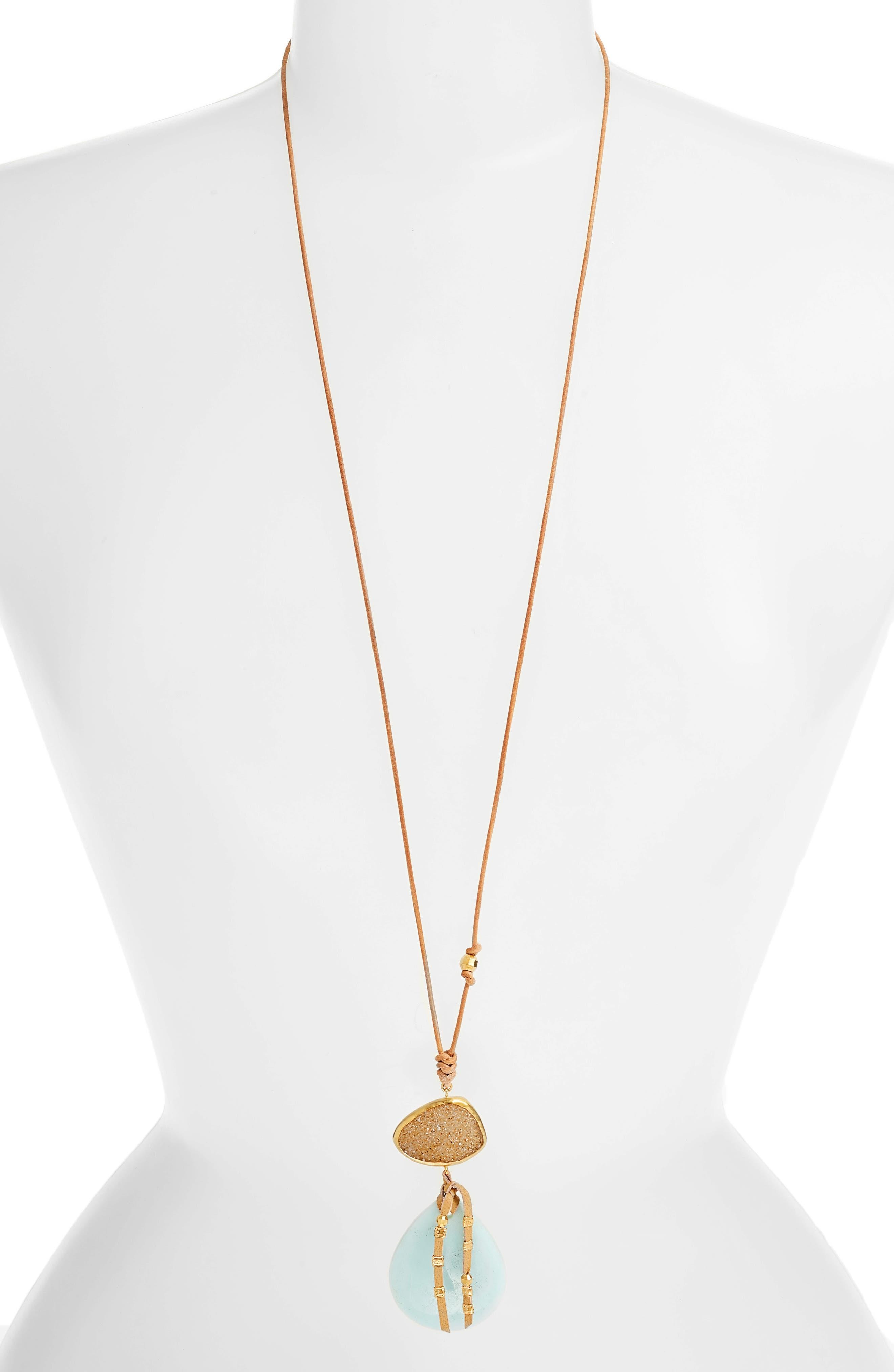 Amazonite Pendant Necklace,                         Main,                         color, AMAZONITE