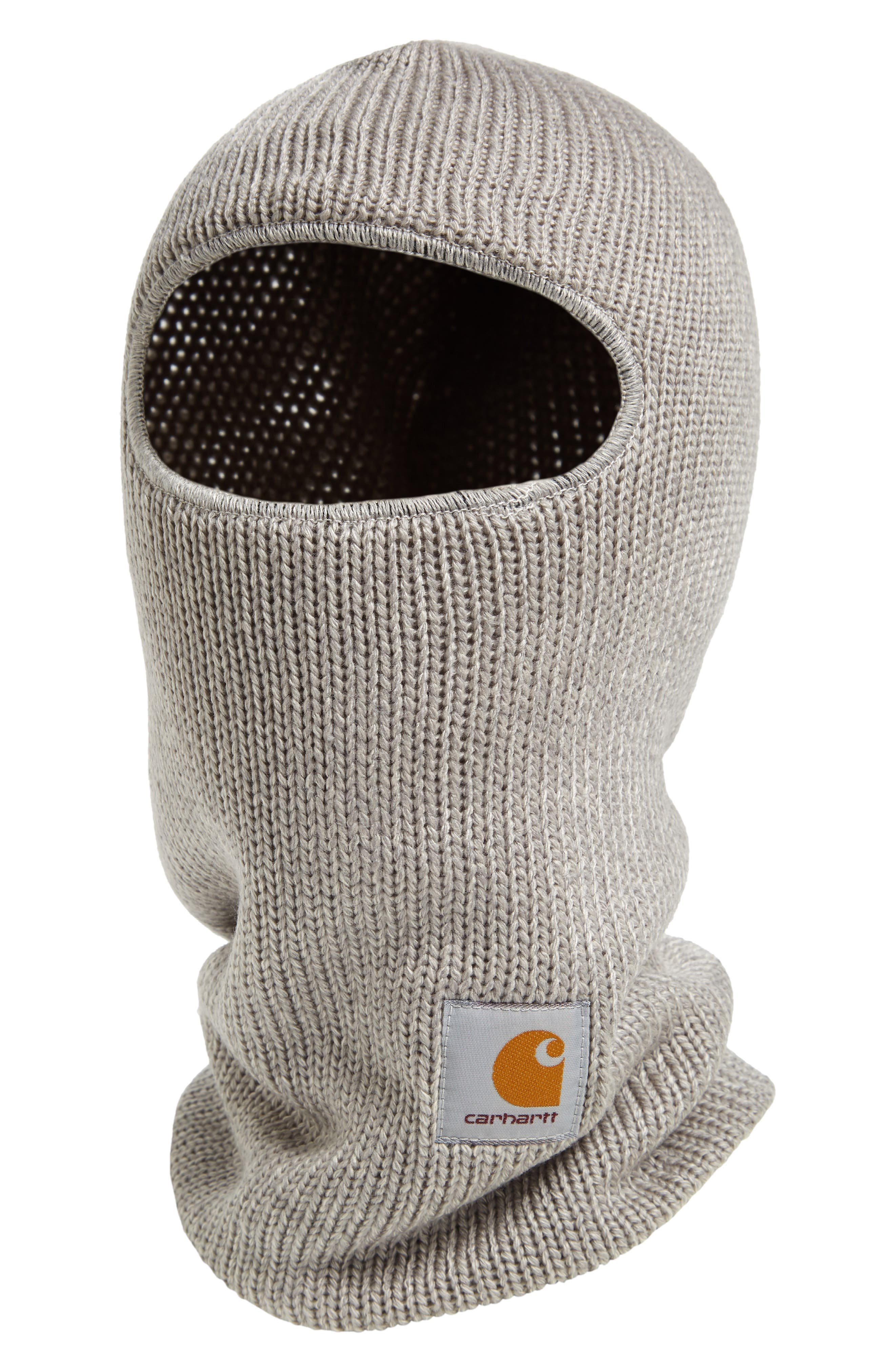 Knit Storm Mask,                             Main thumbnail 1, color,                             GREY HEATHER