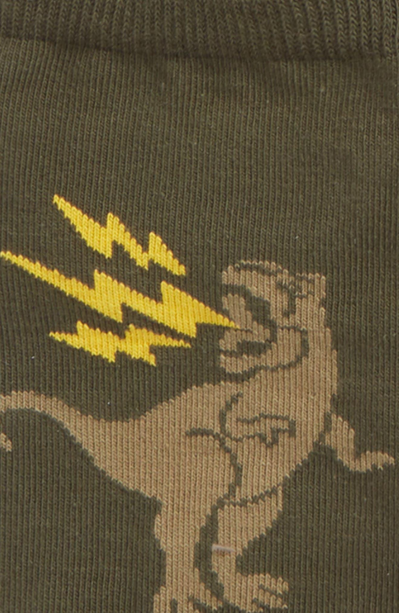 Dino 6-Pack Crew Socks,                             Alternate thumbnail 2, color,                             OLIVE SARMA