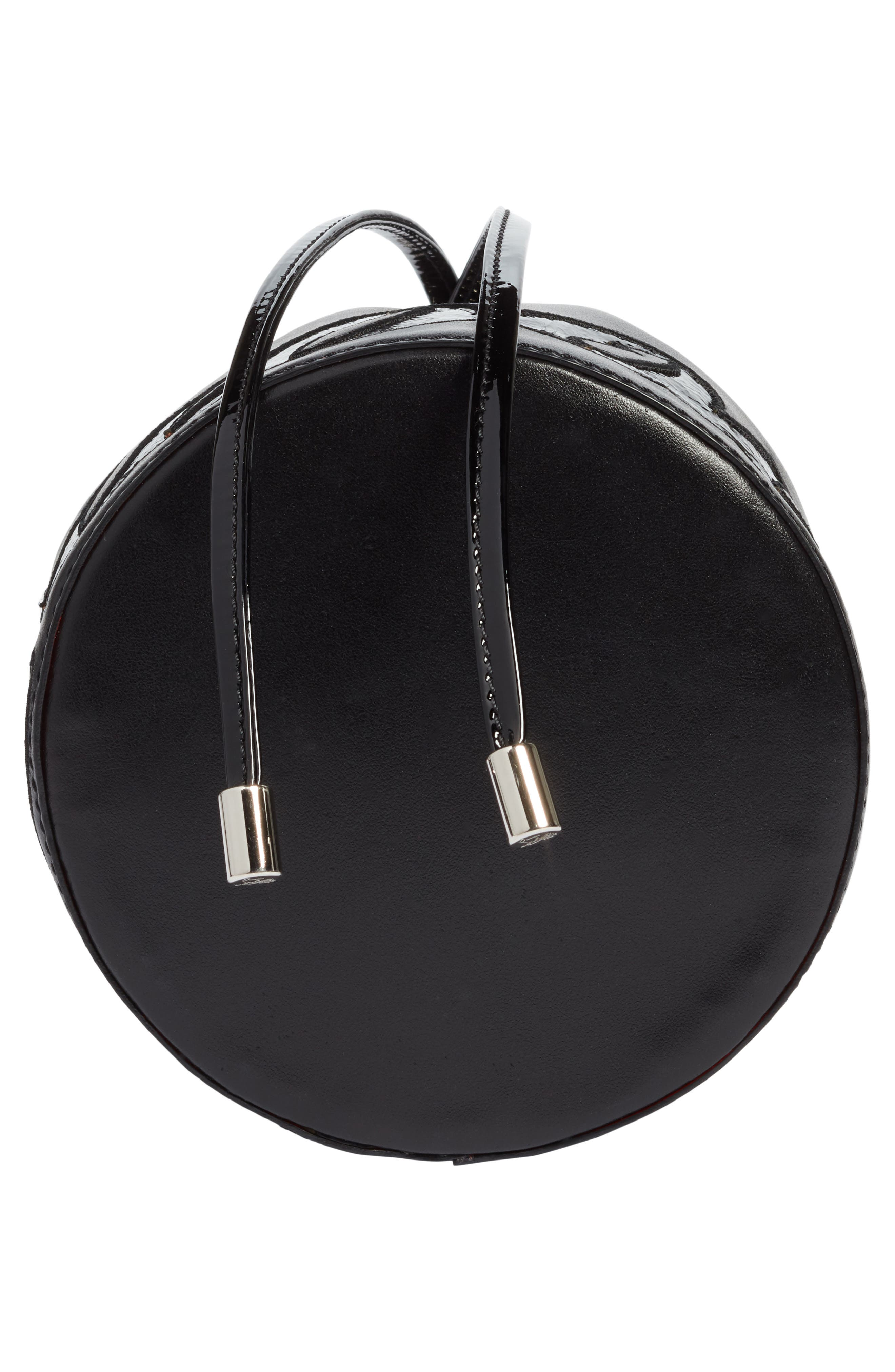 Marie Jane Calfskin Bucket Bag,                             Alternate thumbnail 5, color,                             BLACK/ BLACK