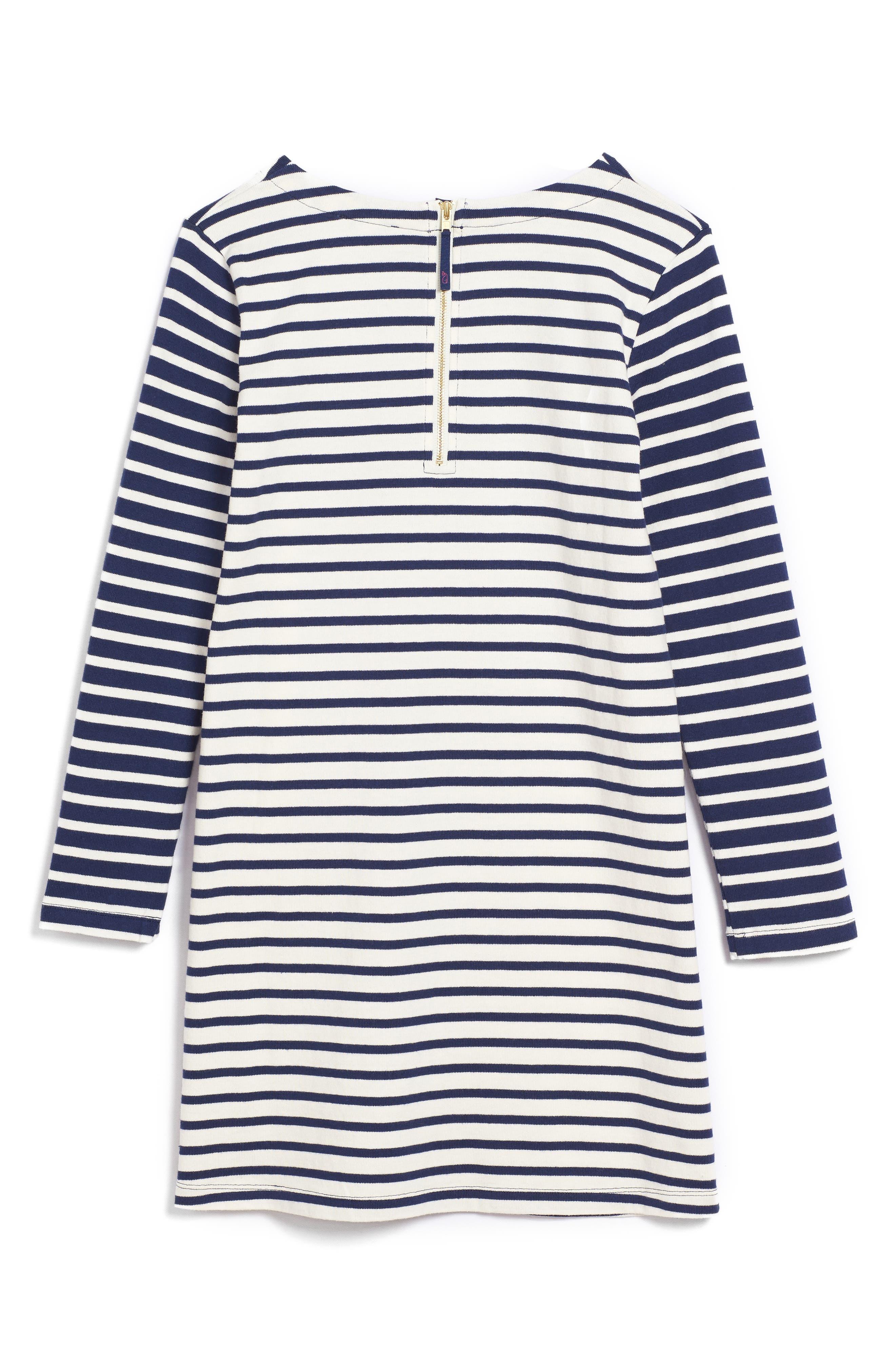 Stripe Knit Dress,                             Alternate thumbnail 2, color,                             106