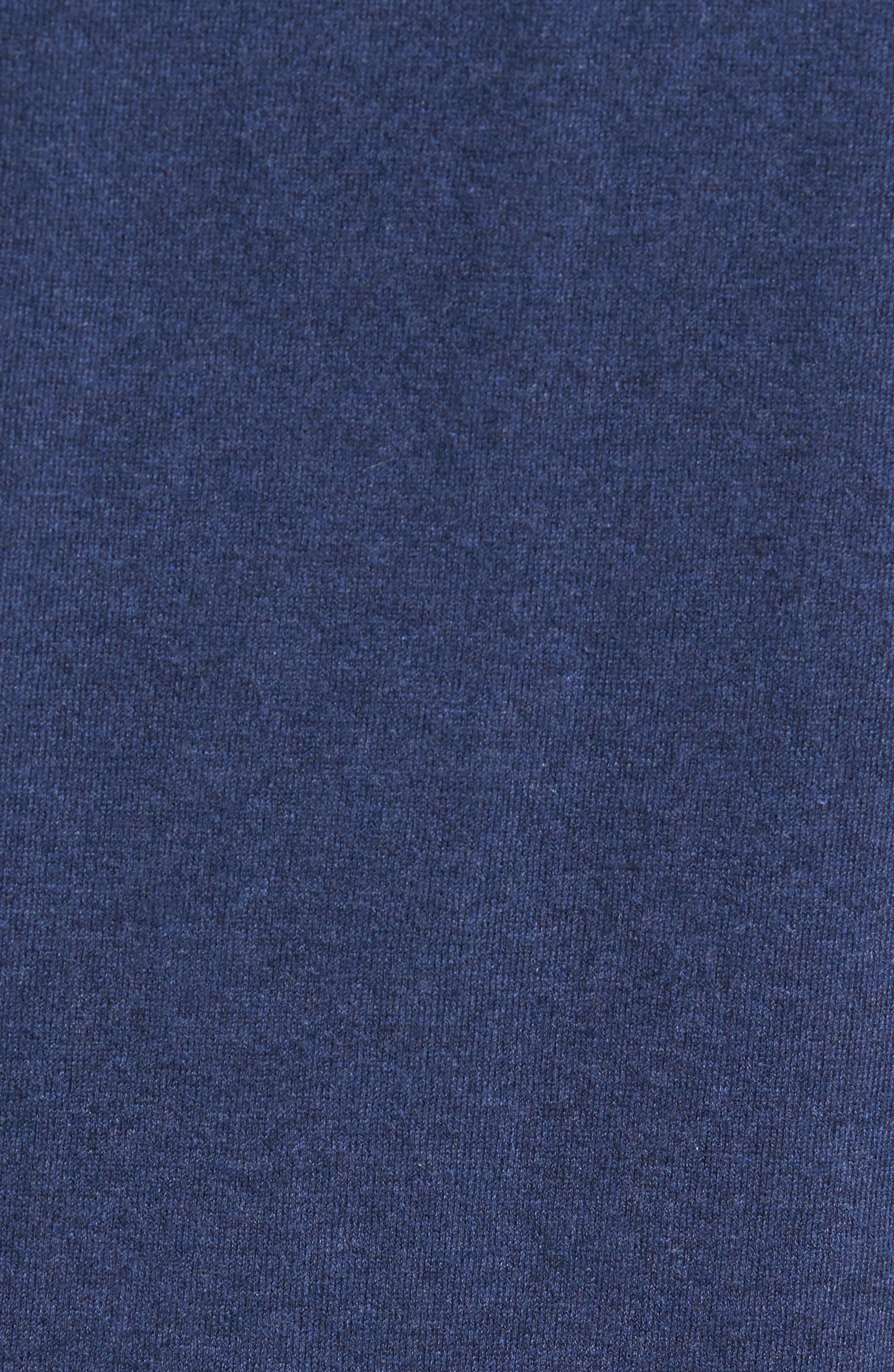 Regular Fit Stretch Cotton Sweater,                             Alternate thumbnail 5, color,                             INDIGO MELANGE