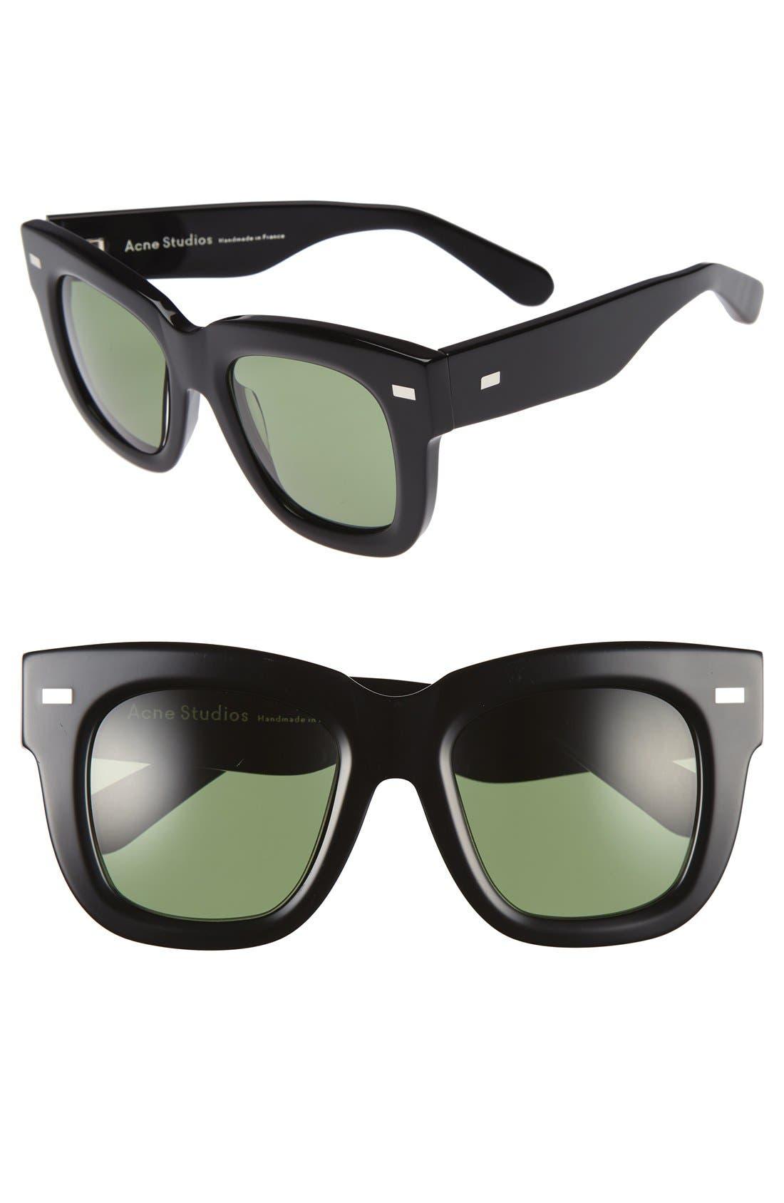 Library 51mm Sunglasses,                             Main thumbnail 1, color,                             001