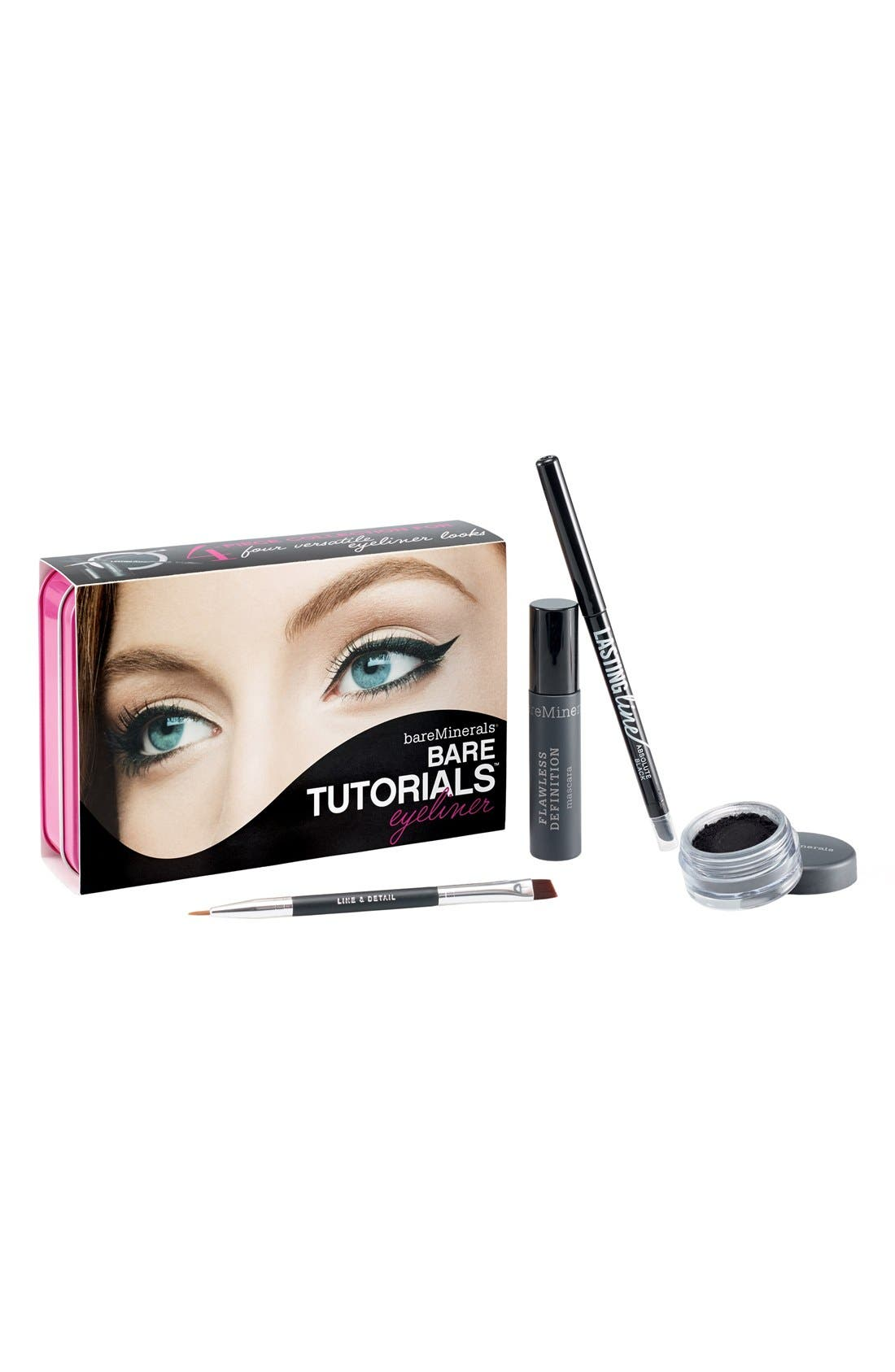 Bare Tutorials Eyeliner Set,                             Main thumbnail 1, color,                             000