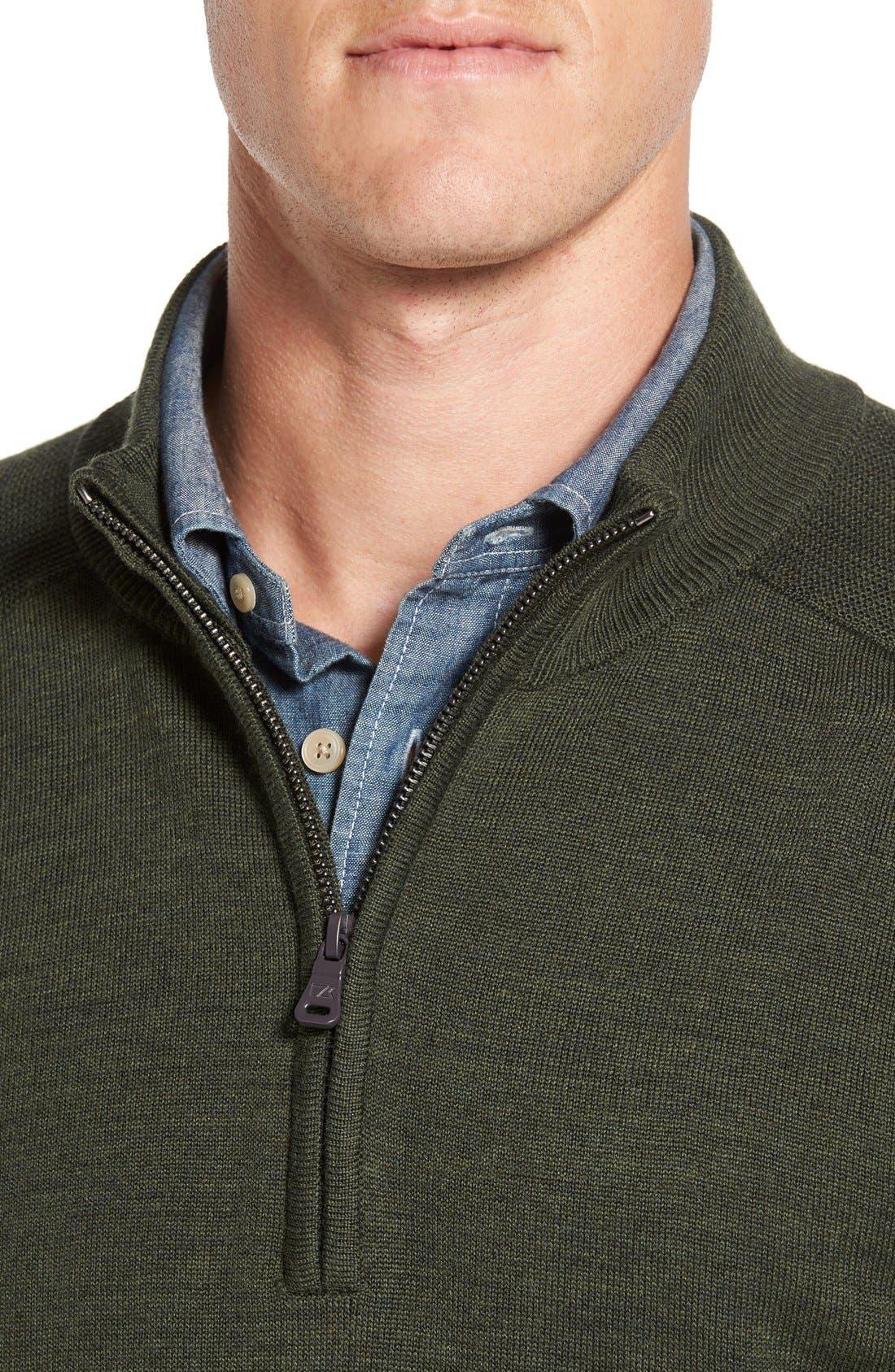 Douglas Quarter Zip Wool Blend Sweater,                             Alternate thumbnail 21, color,