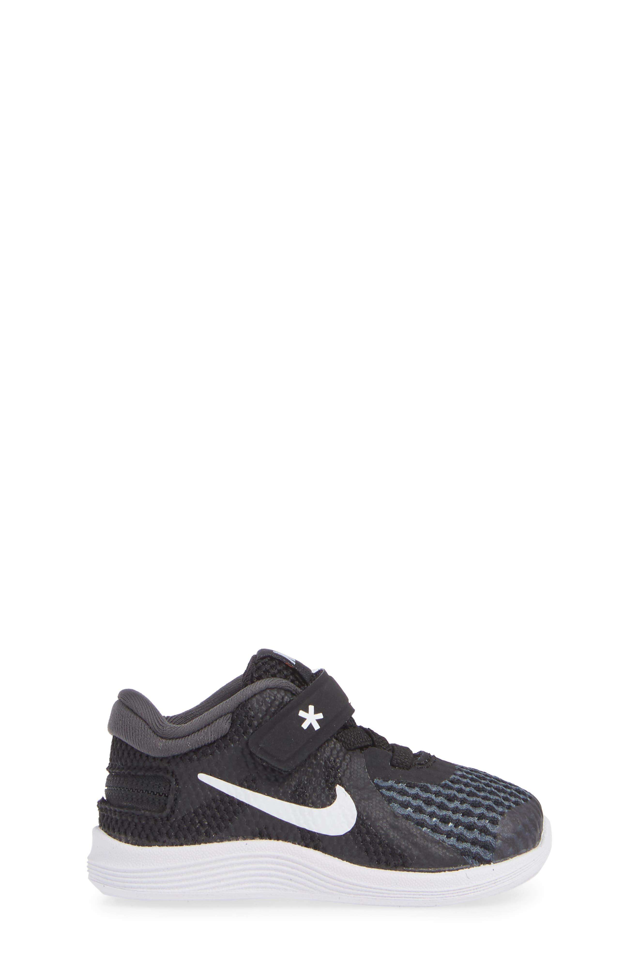 NIKE,                             Revolution 4 Flyease Sneaker,                             Alternate thumbnail 3, color,                             BLACK TOTAL CRIMSON