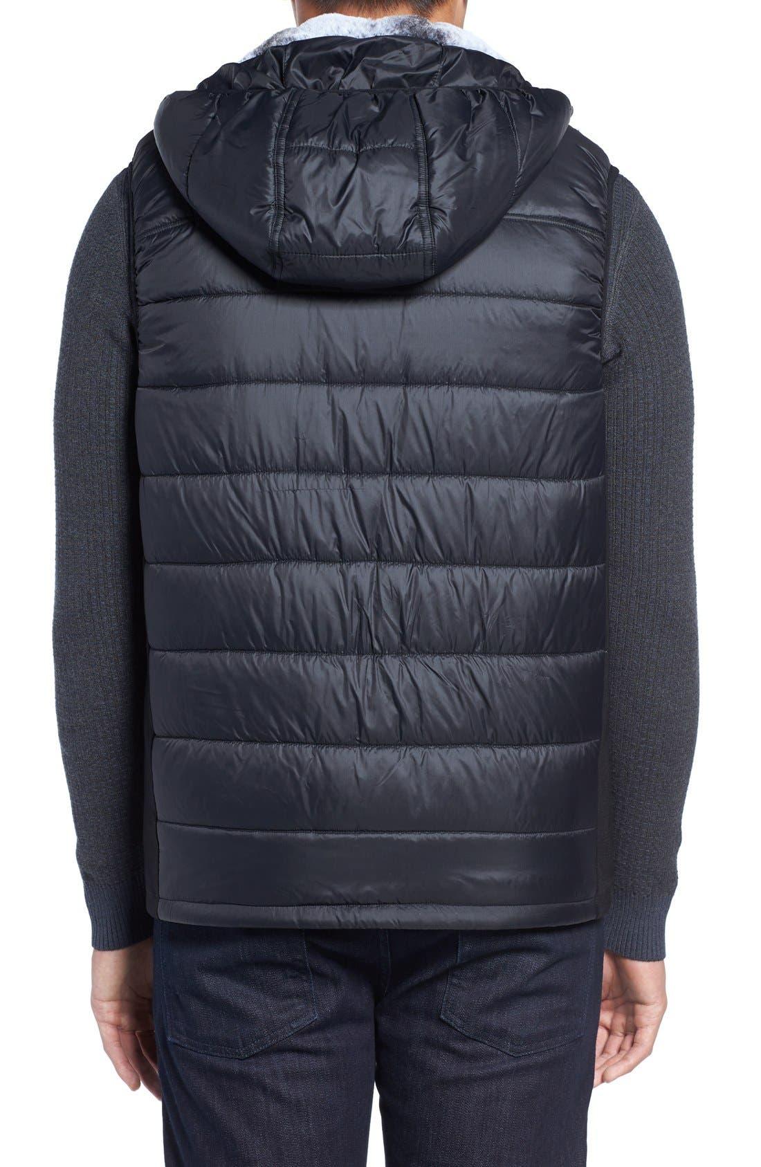 Hooded Faux Fur Lined Vest,                             Alternate thumbnail 2, color,                             013