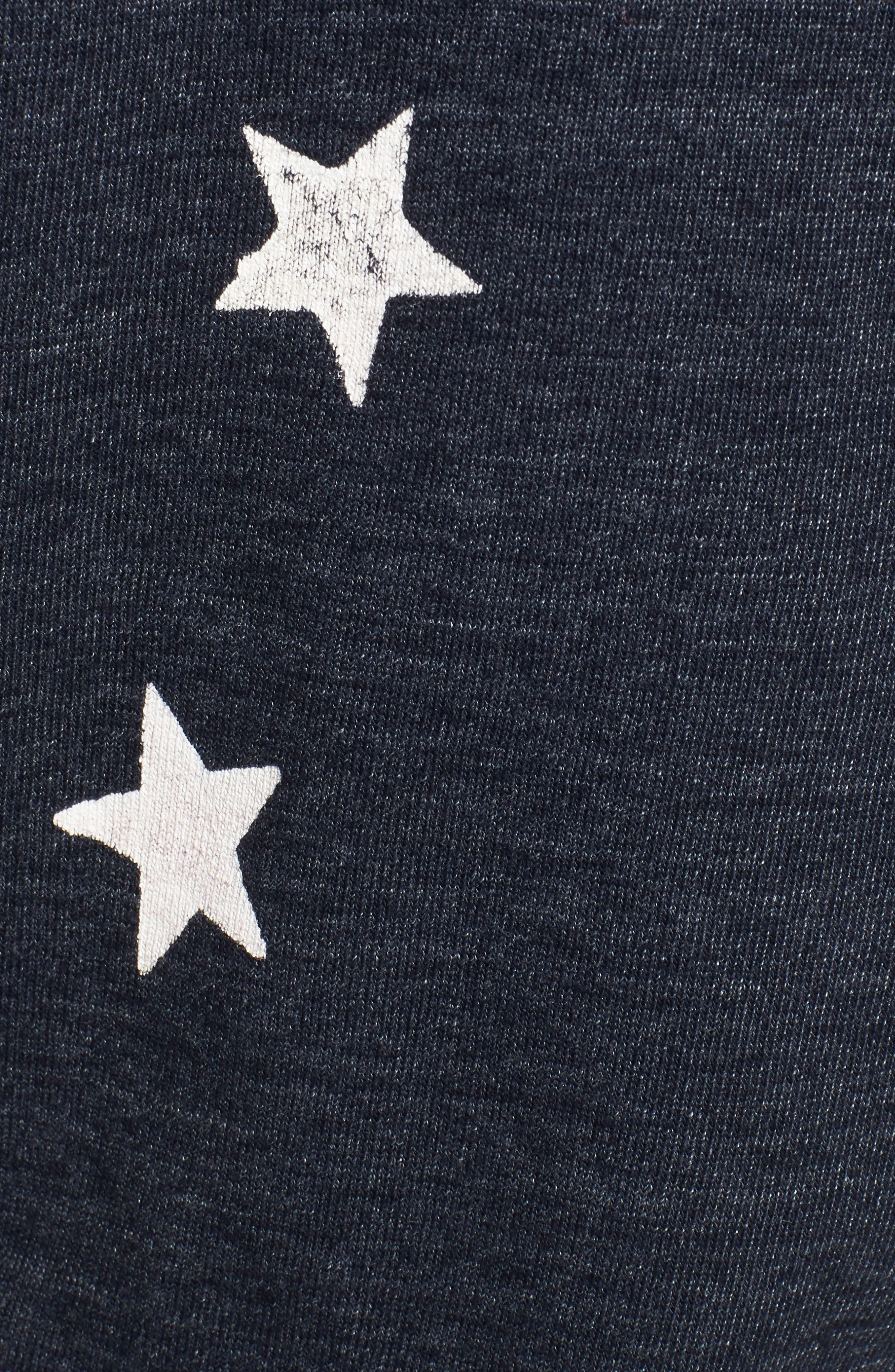 Star Zip-Up Hoodie,                             Alternate thumbnail 5, color,                             NAVY/ WHITE