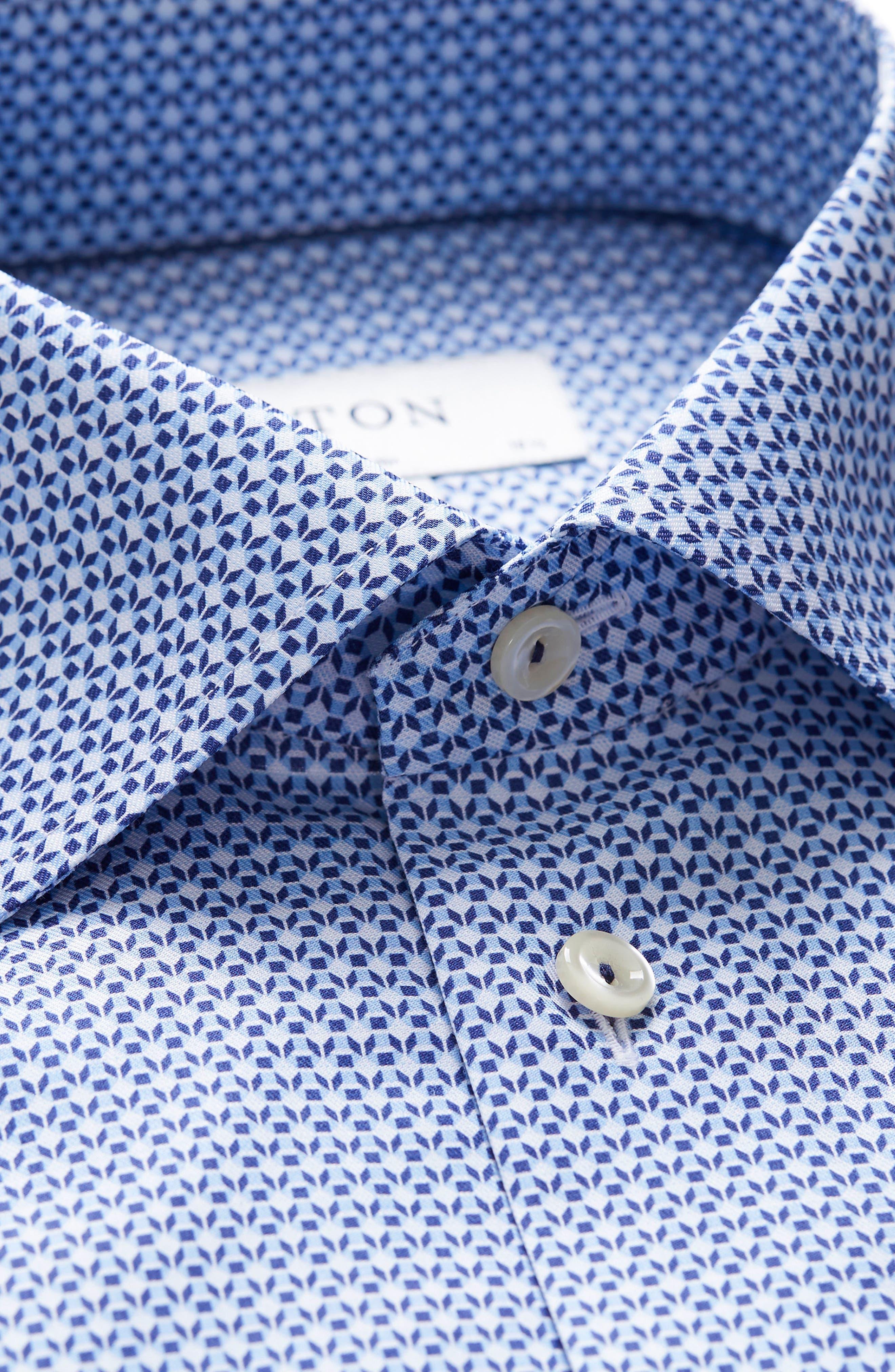 Contemporary Fit Pattern Dress Shirt,                             Alternate thumbnail 3, color,                             400