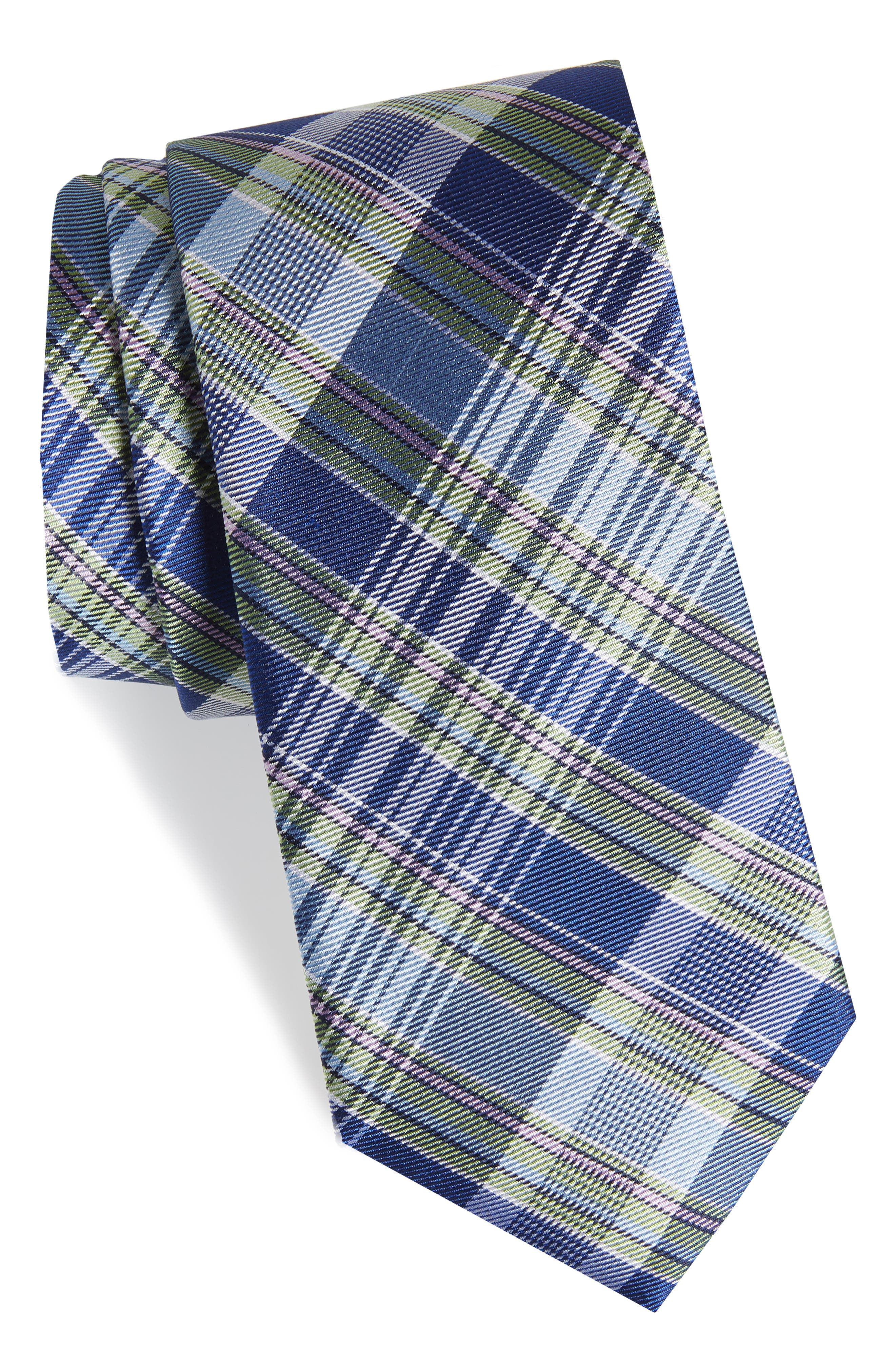 Sassafrass Plaid Silk Tie,                         Main,                         color,
