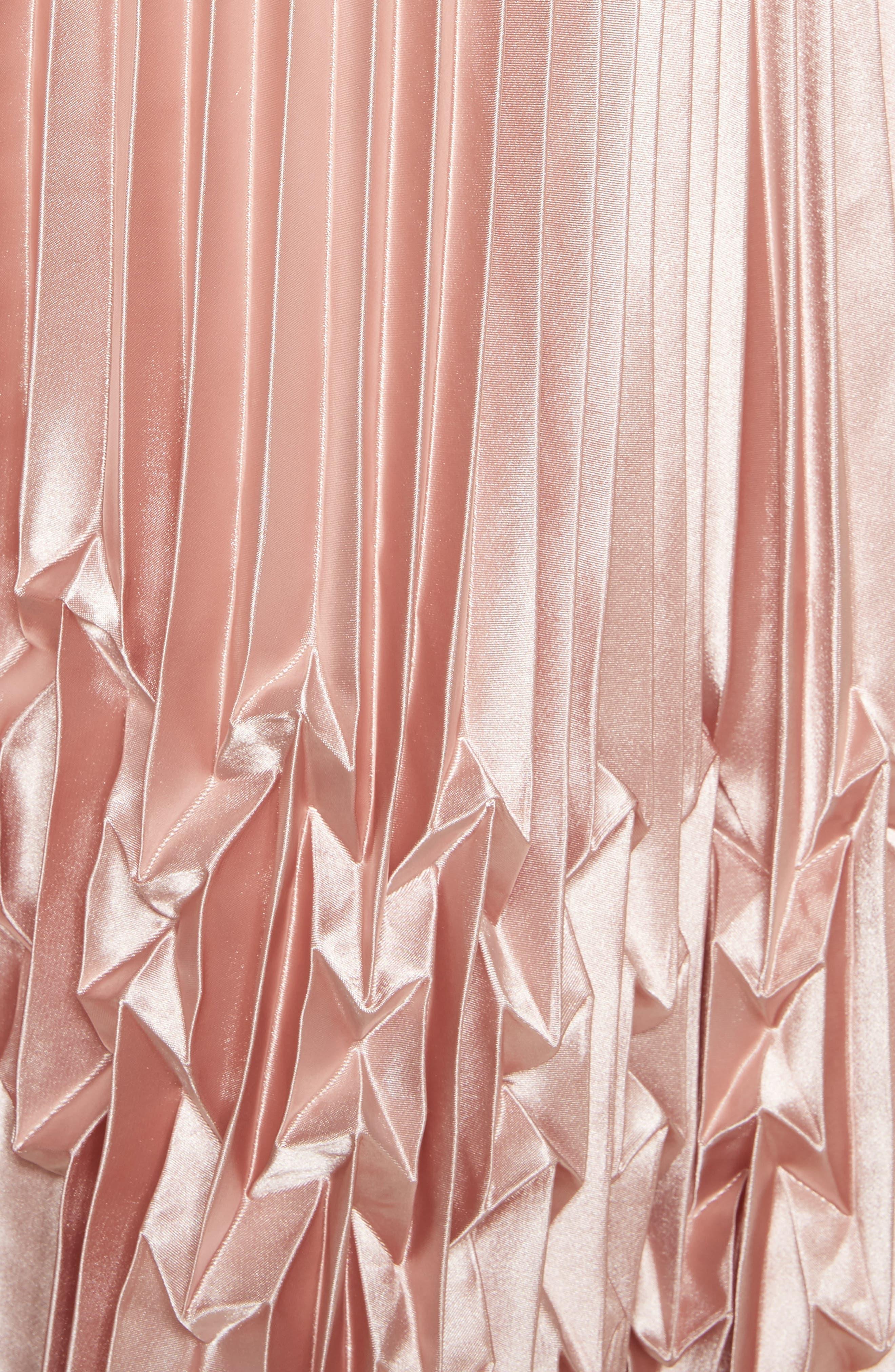 Zigzag Detail Pleated Midi Skirt,                             Alternate thumbnail 5, color,                             681