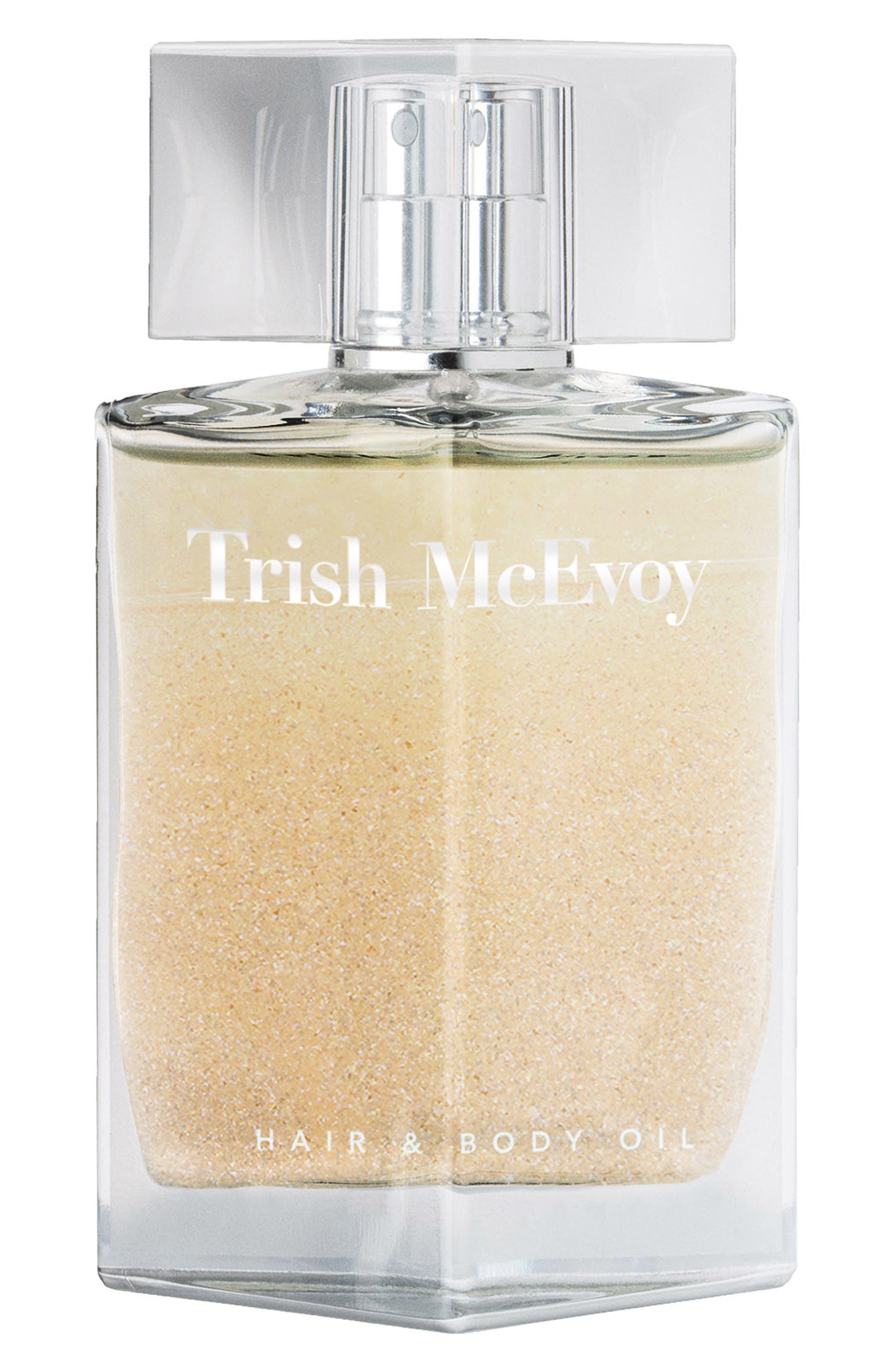 TRISH MCEVOY,                             100 Luminous Hair & Body Shimmer Oil,                             Main thumbnail 1, color,                             NO COLOR