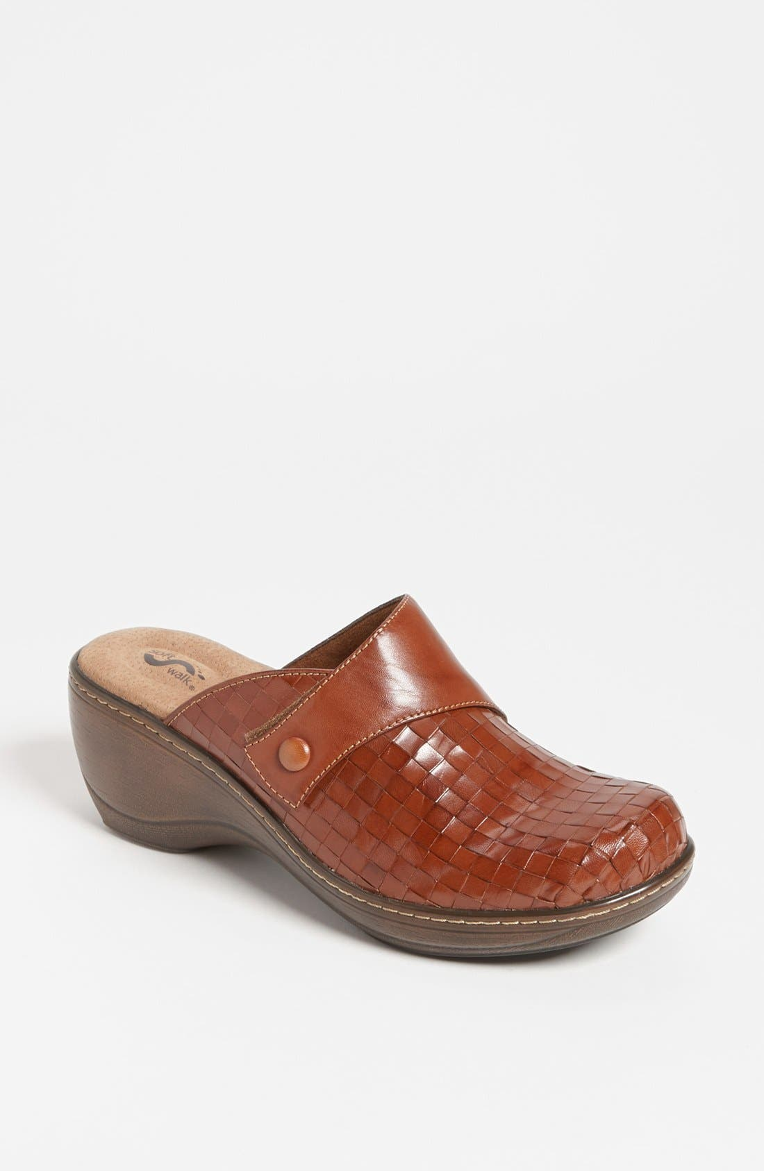 'Memphis' Clog,                             Main thumbnail 1, color,                             RUST BURNISHED