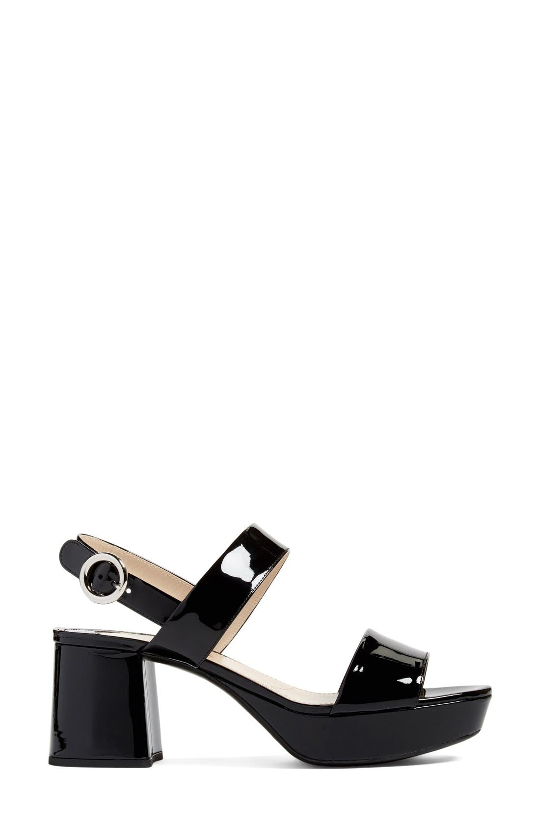 Slingback Platform Sandal,                             Alternate thumbnail 19, color,