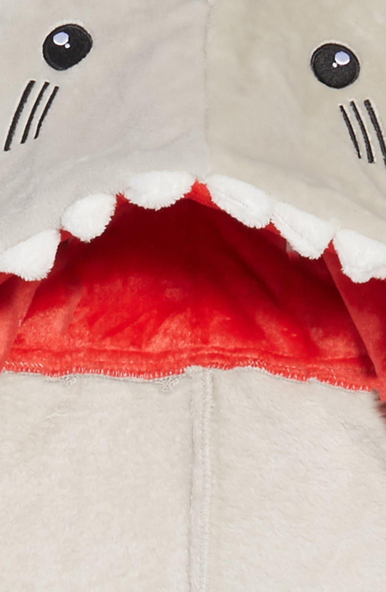 UNDER ONE SKY,                             Shark Hooded Blanket,                             Alternate thumbnail 2, color,                             SHARK