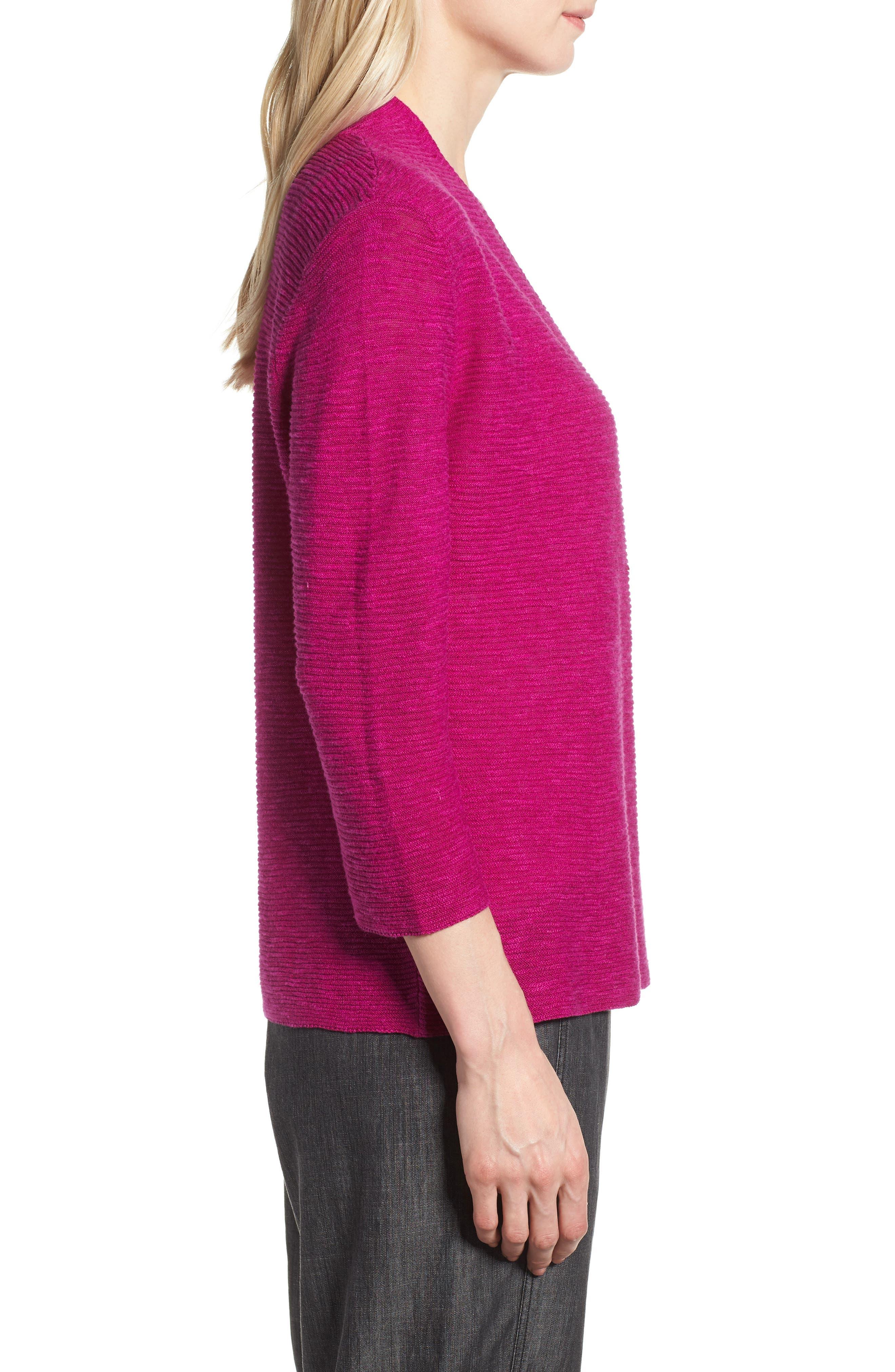 Simple Organic Linen & Cotton Cardigan,                             Alternate thumbnail 10, color,