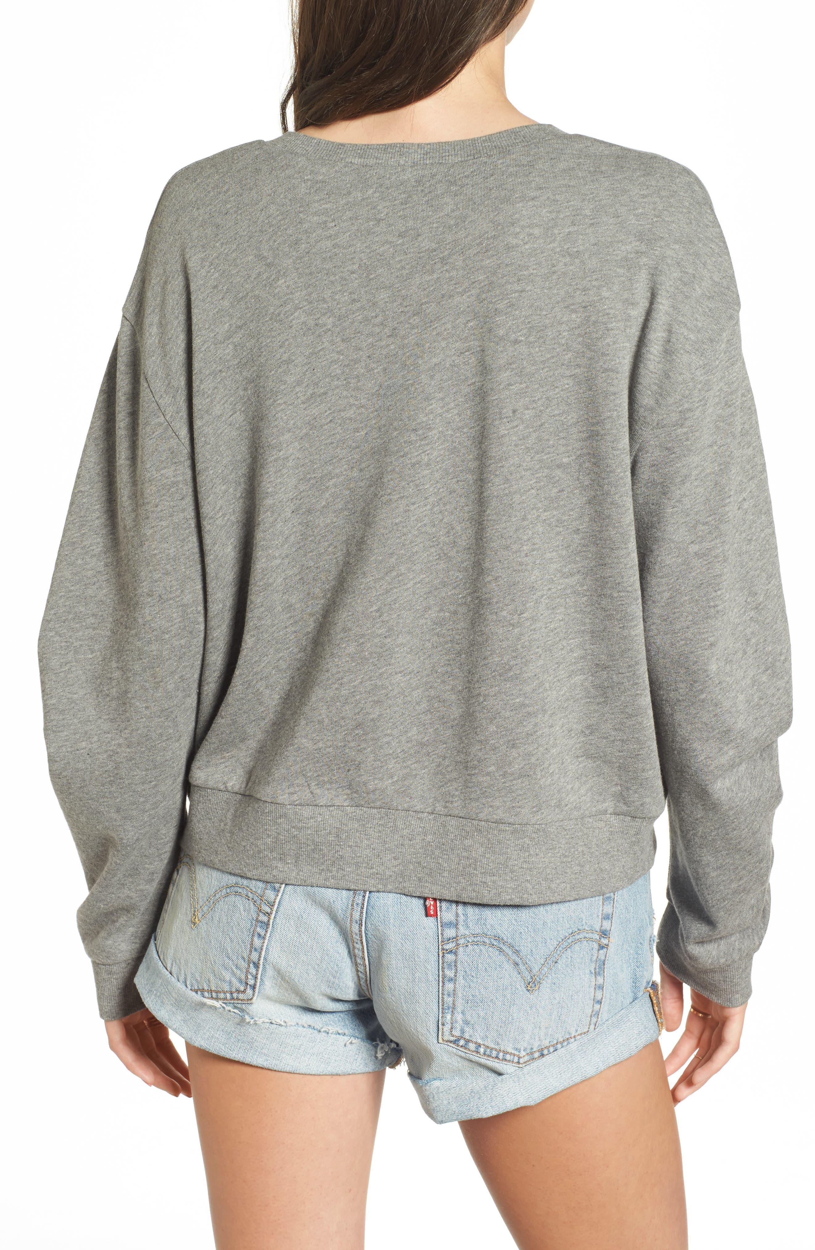 Ruched Sleeve Sweatshirt,                             Alternate thumbnail 2, color,                             030